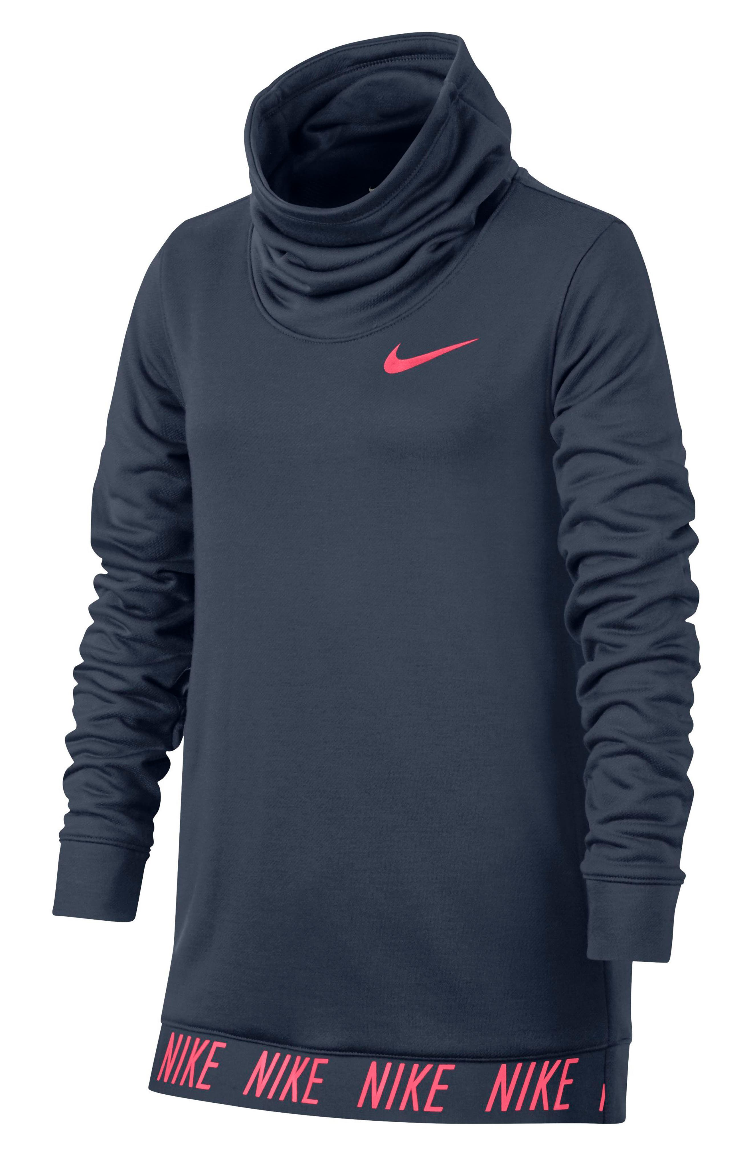 Nike Dry Core Studio Long Sleeve Pullover (Big Girls)