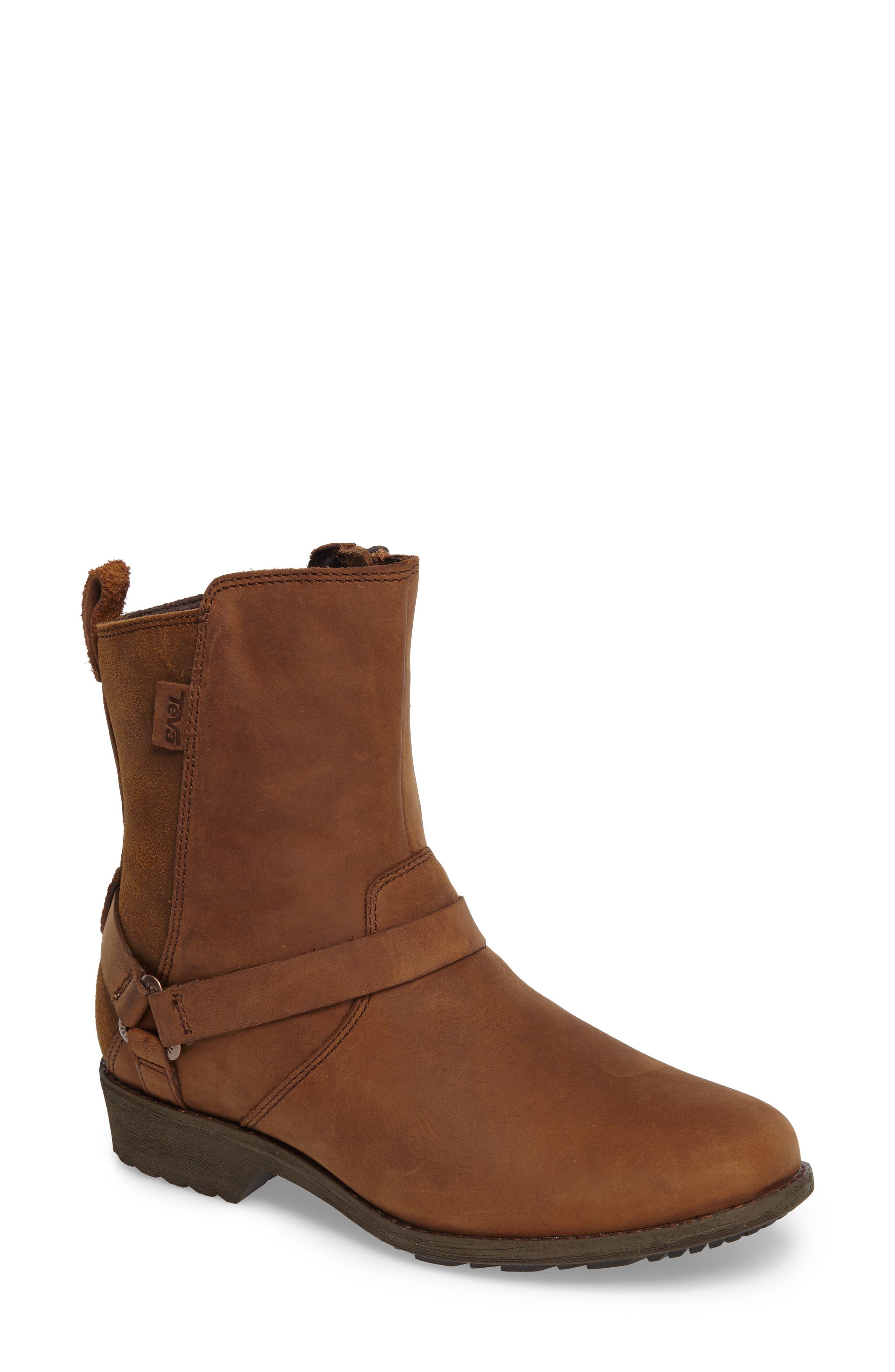 Dina La Vina Dos Waterproof Boot,                         Main,                         color, Bison Leather