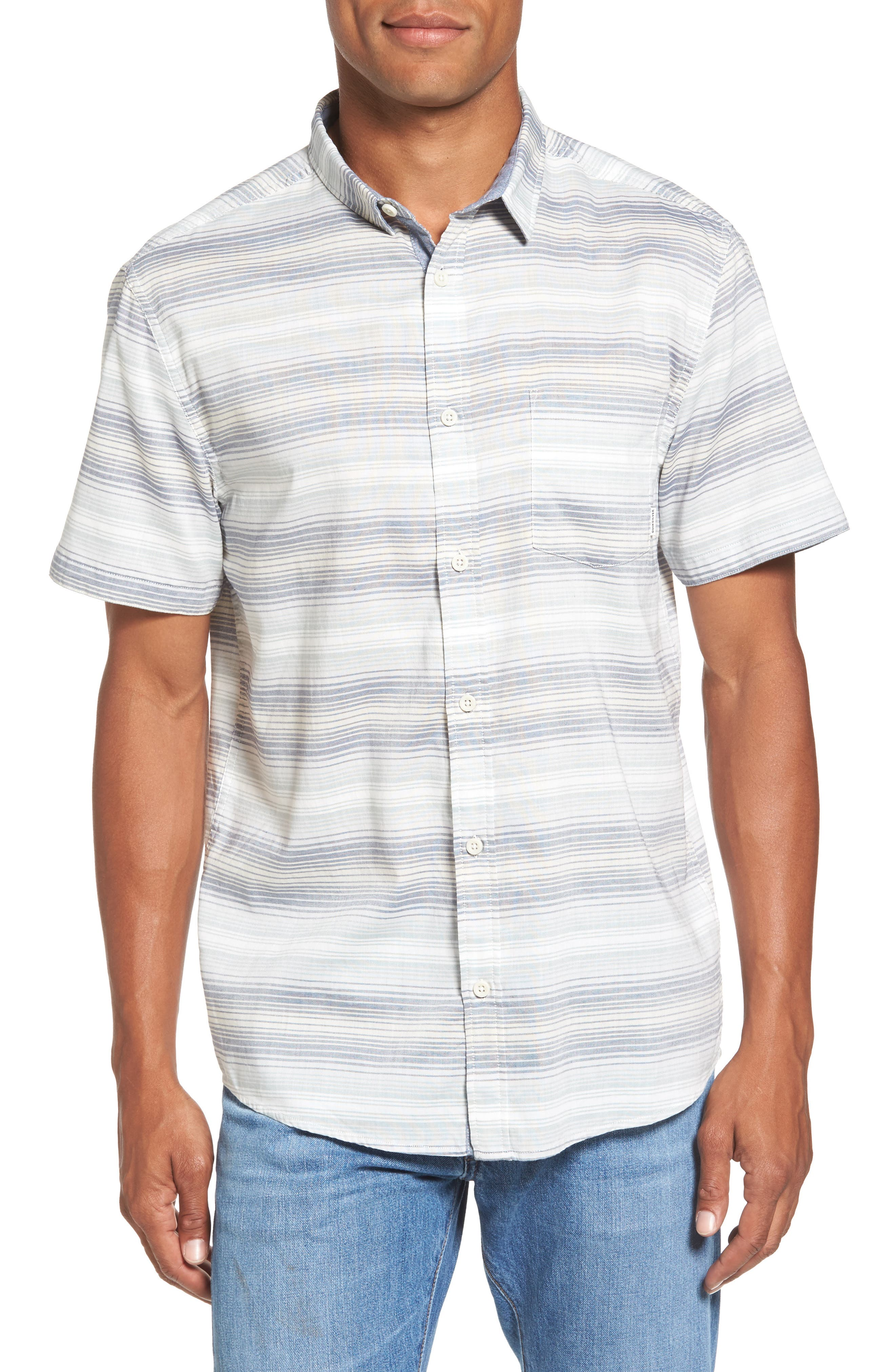 Alternate Image 1 Selected - Quiksilver Aventail Stripe Shirt