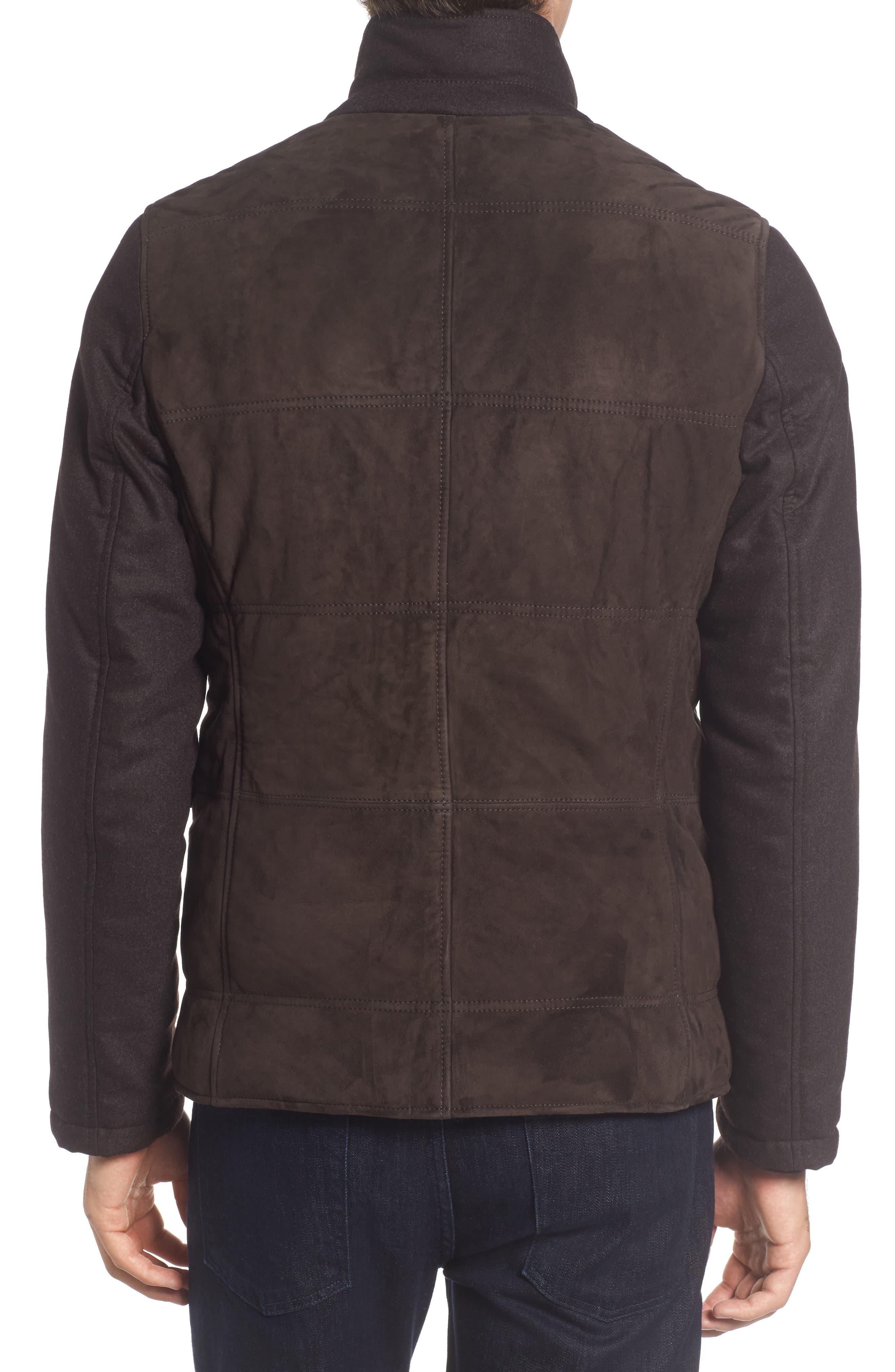 Alternate Image 2  - BOSS T-Cobas Slim Fit Mixed Media Jacket