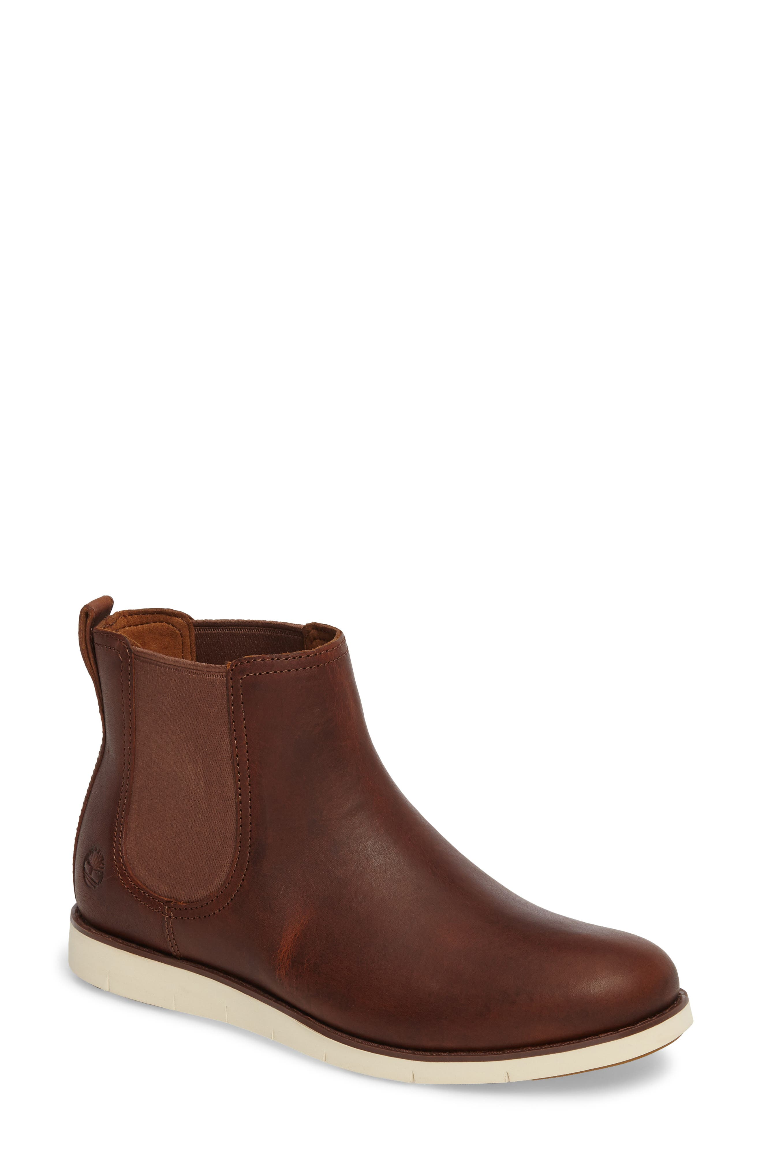 Lakeville Chelsea Boot,                             Main thumbnail 1, color,                             Medium Brown Leather