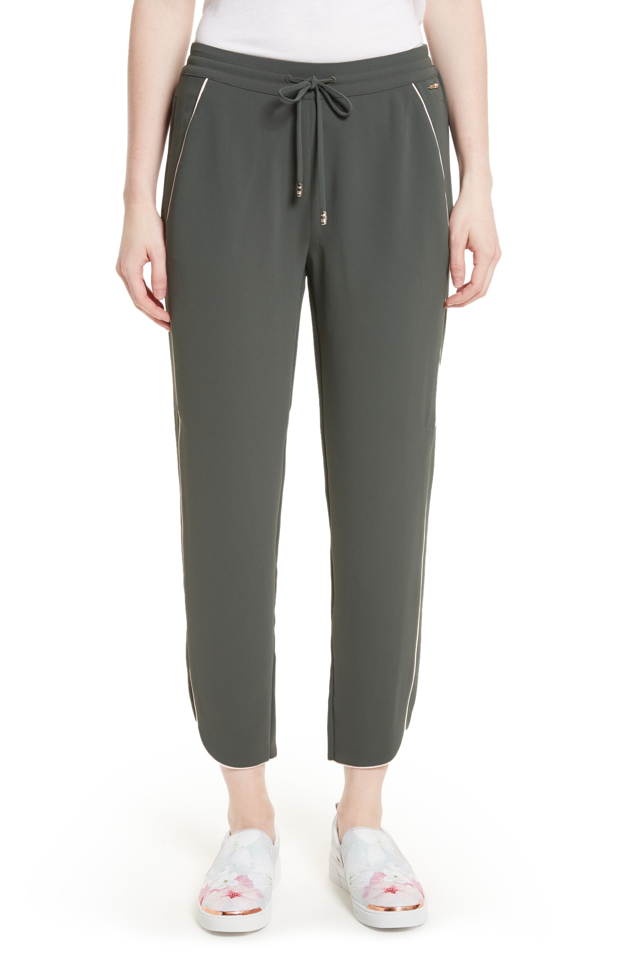 Alternate Image 1 Selected - Ted Baker London Quenbie Piped Jogger Pants