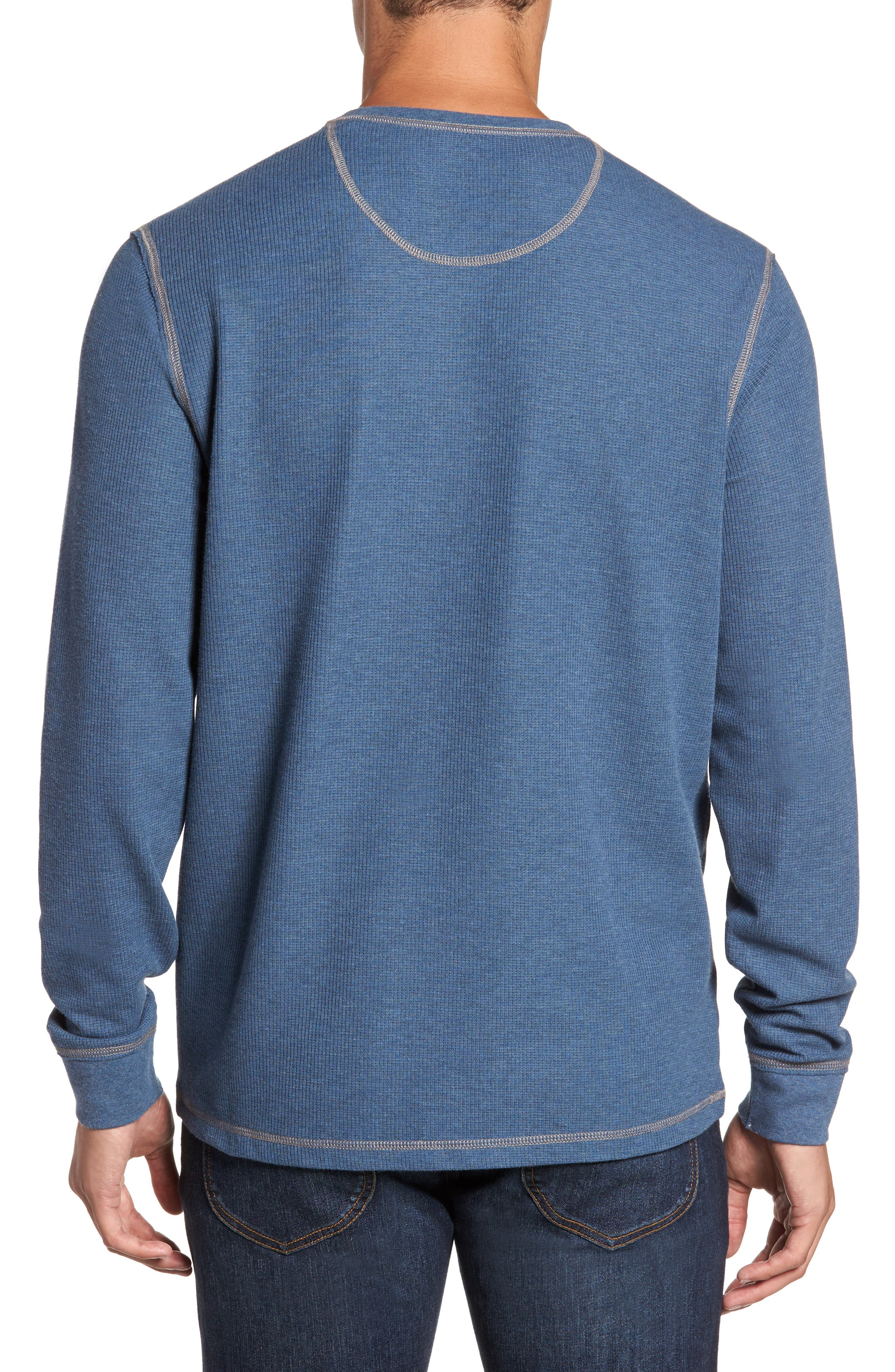 Island Thermal Henley,                             Alternate thumbnail 2, color,                             Cadet Heather