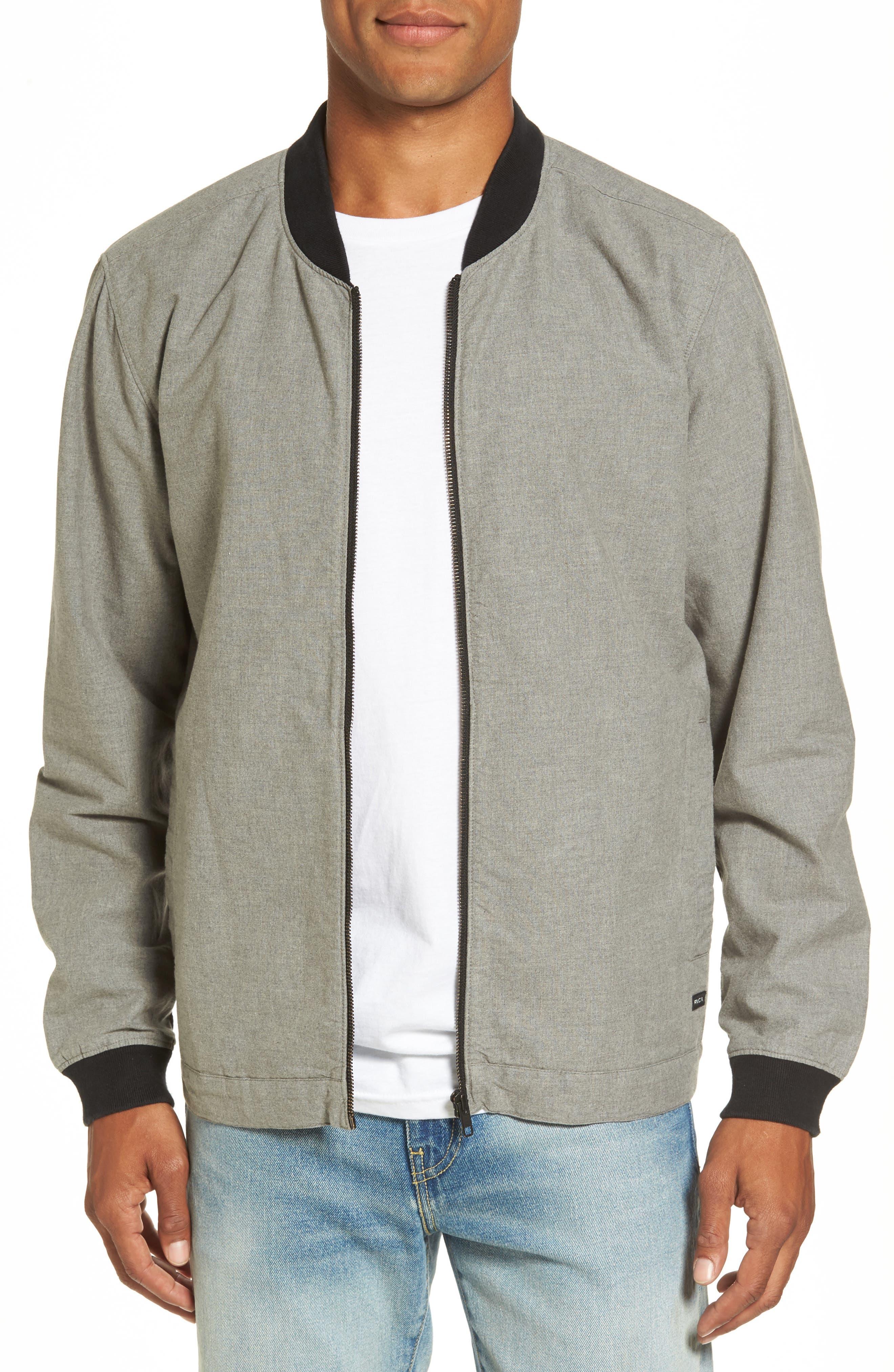 Conversion Bomber Jacket,                         Main,                         color, Grey Noise
