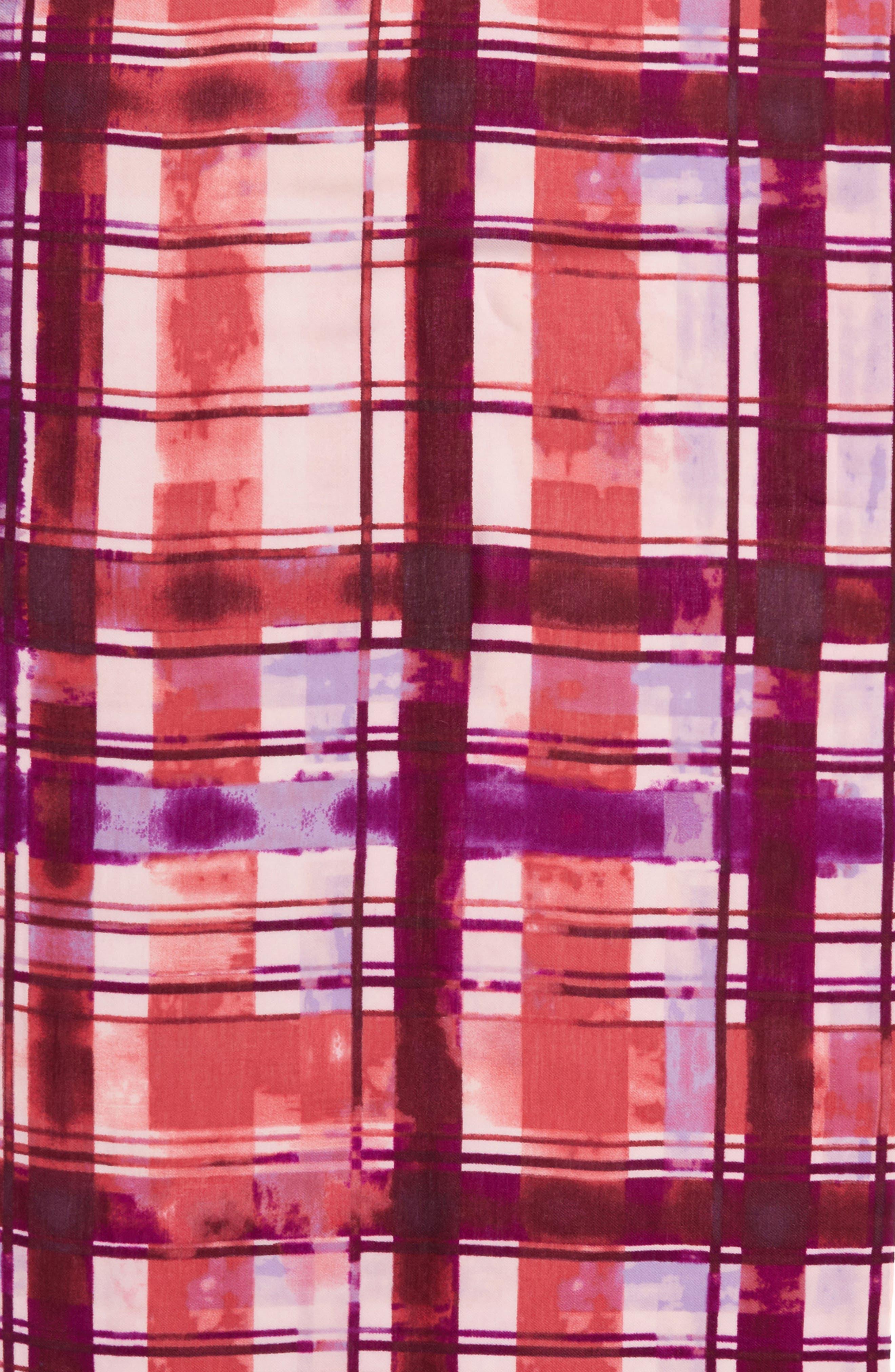 Alternate Image 4  - Nordstrom Handicraft Plaid Tissue Weight Wool & Cashmere Scarf