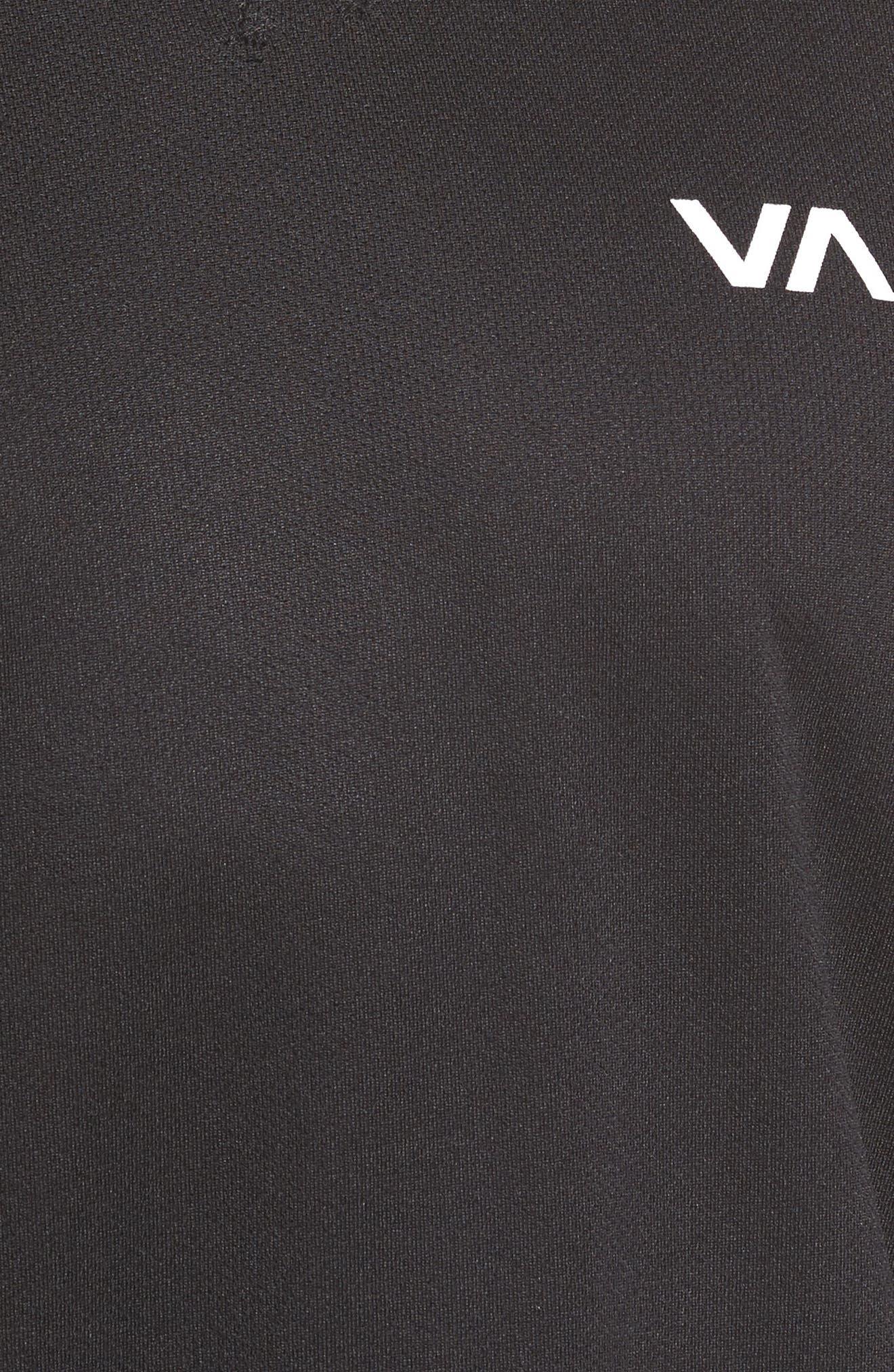 Runner Mesh Long Sleeve T-Shirt,                             Alternate thumbnail 5, color,                             Black