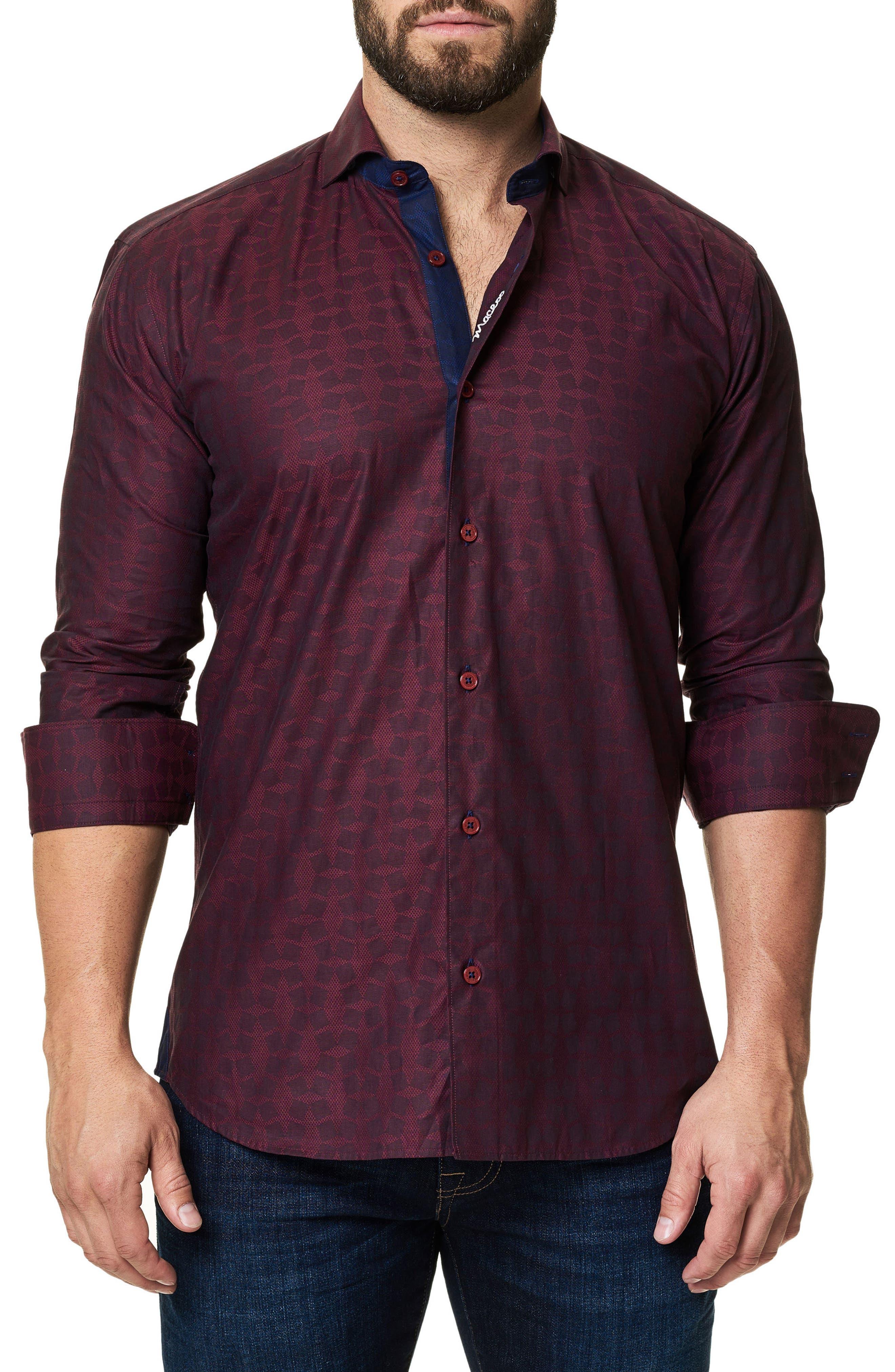 Main Image - Maceoo Trim Fit Print Sport Shirt