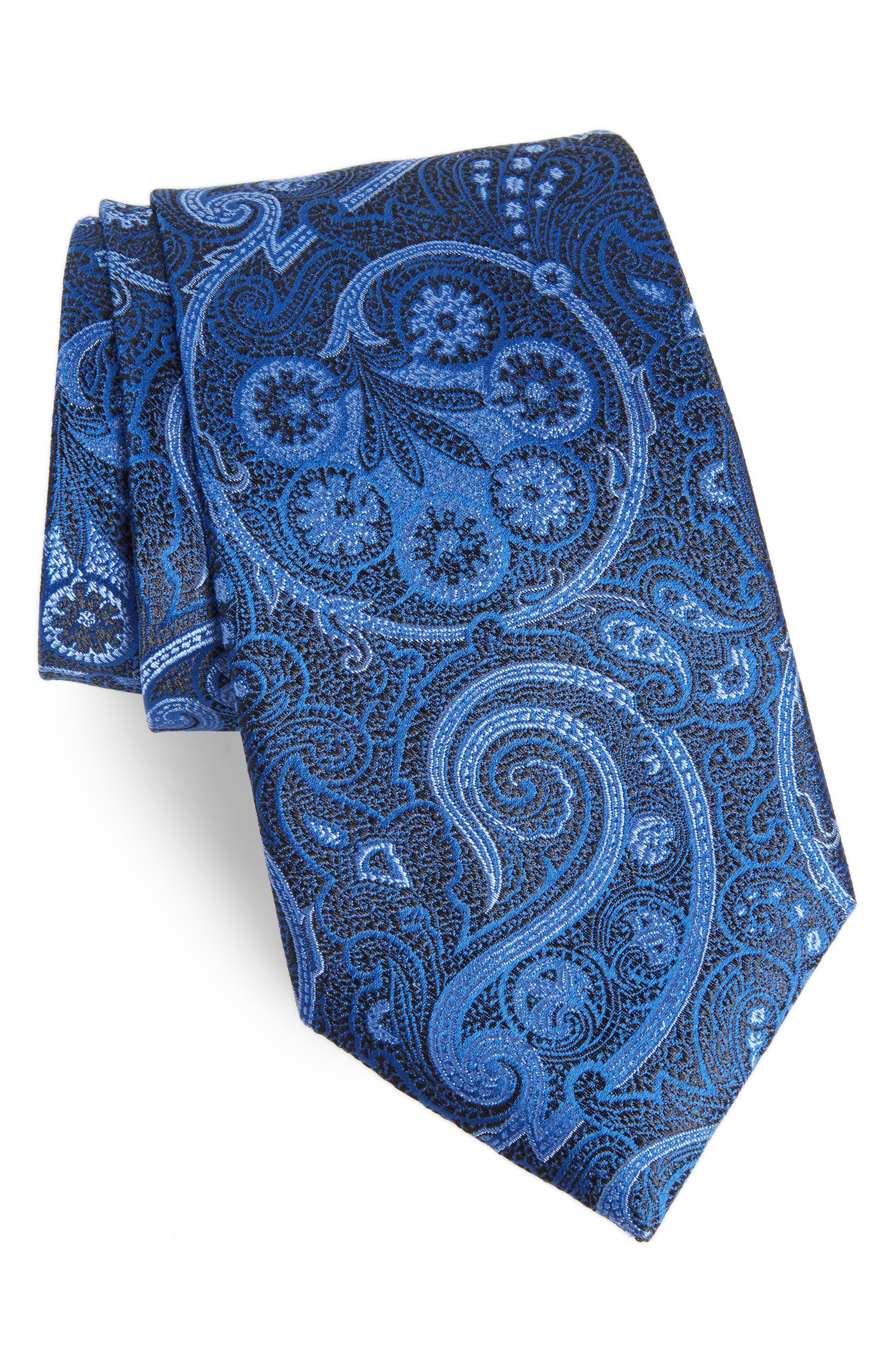Nordstrom Men's Shop Provincial Paisley Silk Tie (X-Long)