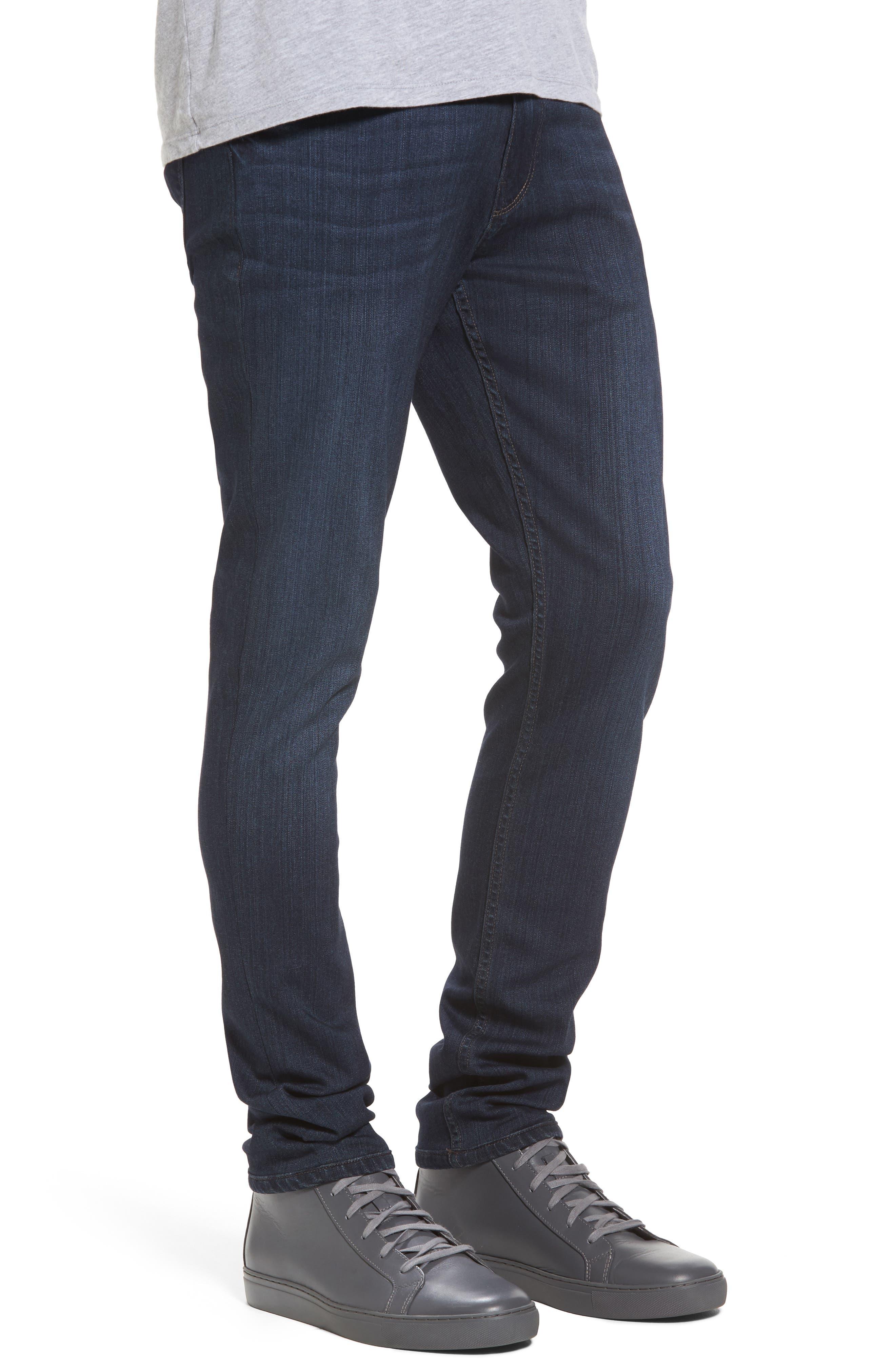 Transcend - Croft Skinny Fit Jeans,                             Alternate thumbnail 3, color,                             Barron