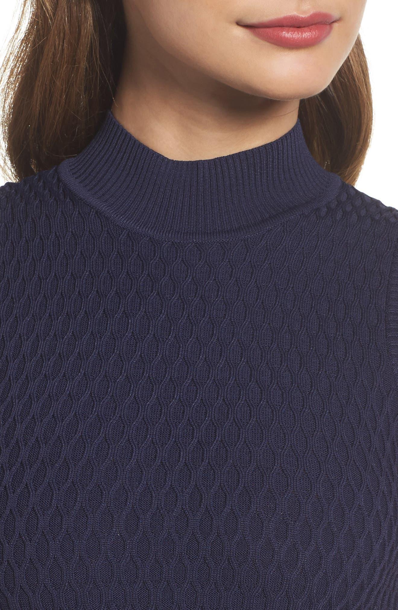 Alternate Image 4  - Adelyn Rae Mock Neck Sweater Dress