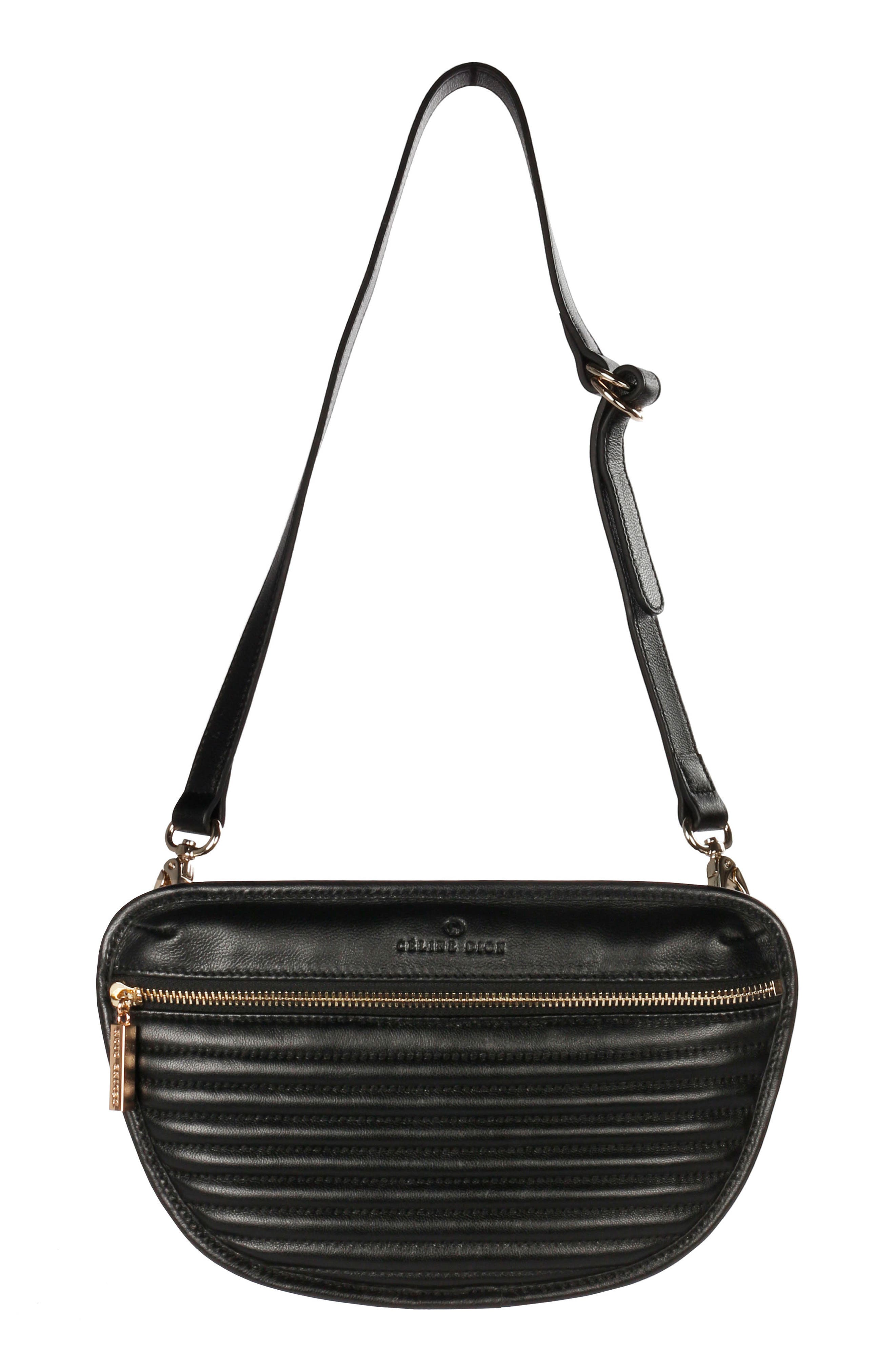Alternate Image 1 Selected - Céline Dion Vibrato Quilted Leather Money Belt