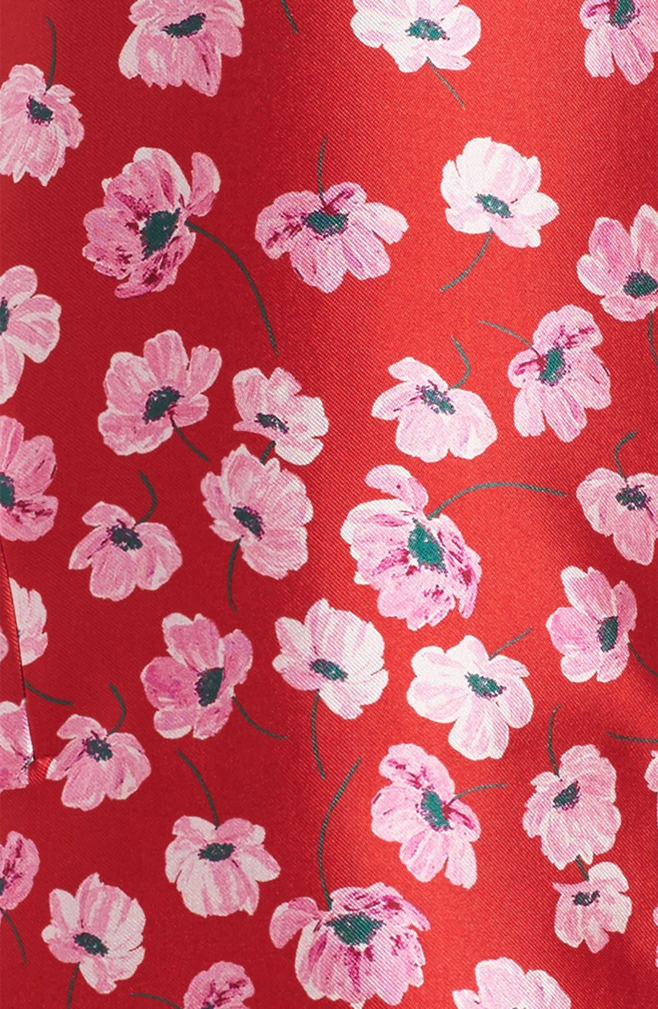 Alternate Image 3  - Oscar de la Renta Poppies Mikado Dress (Big Girls)