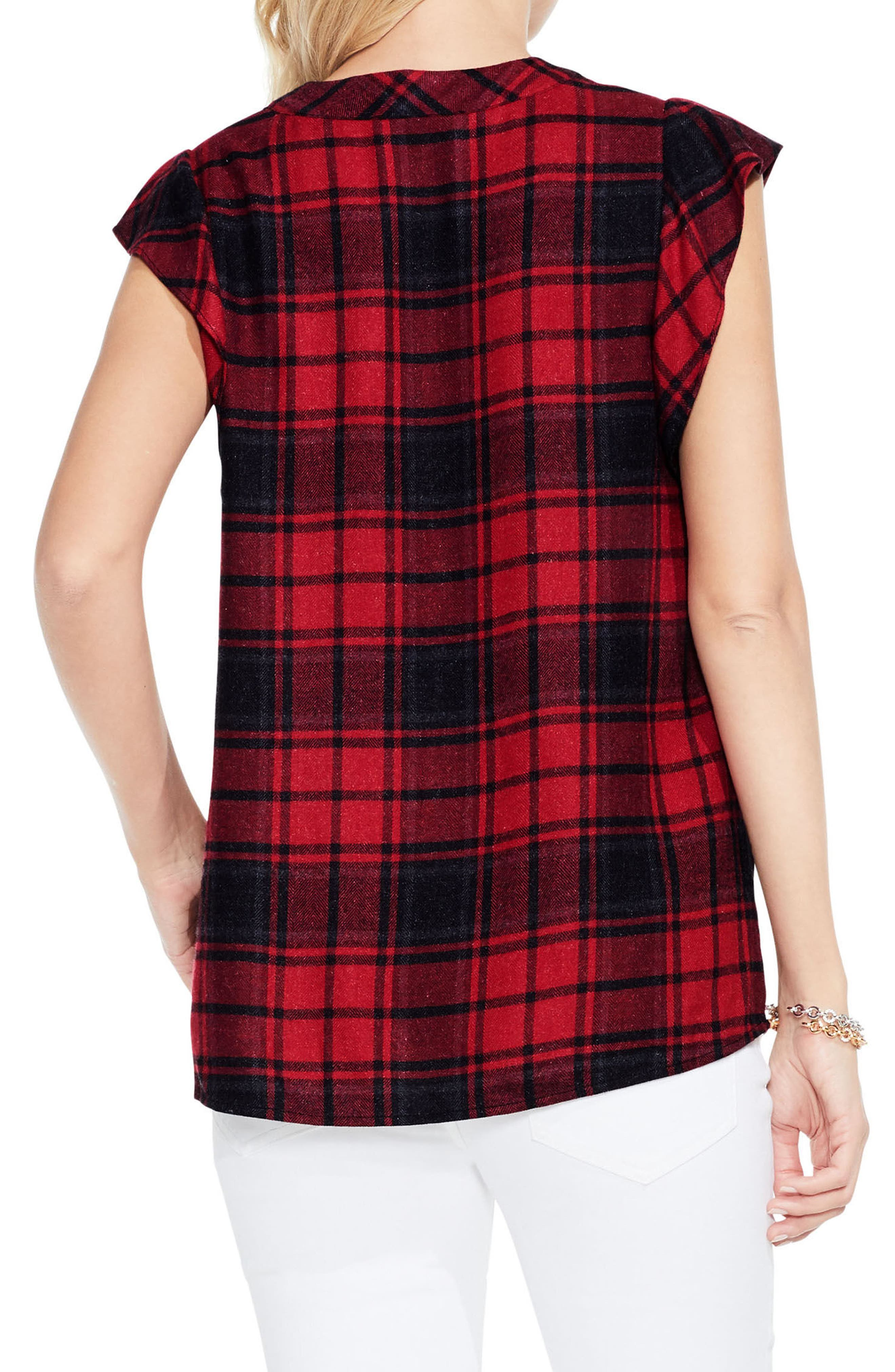 Alternate Image 3  - Two by Vince Camuto Plaid Blouse