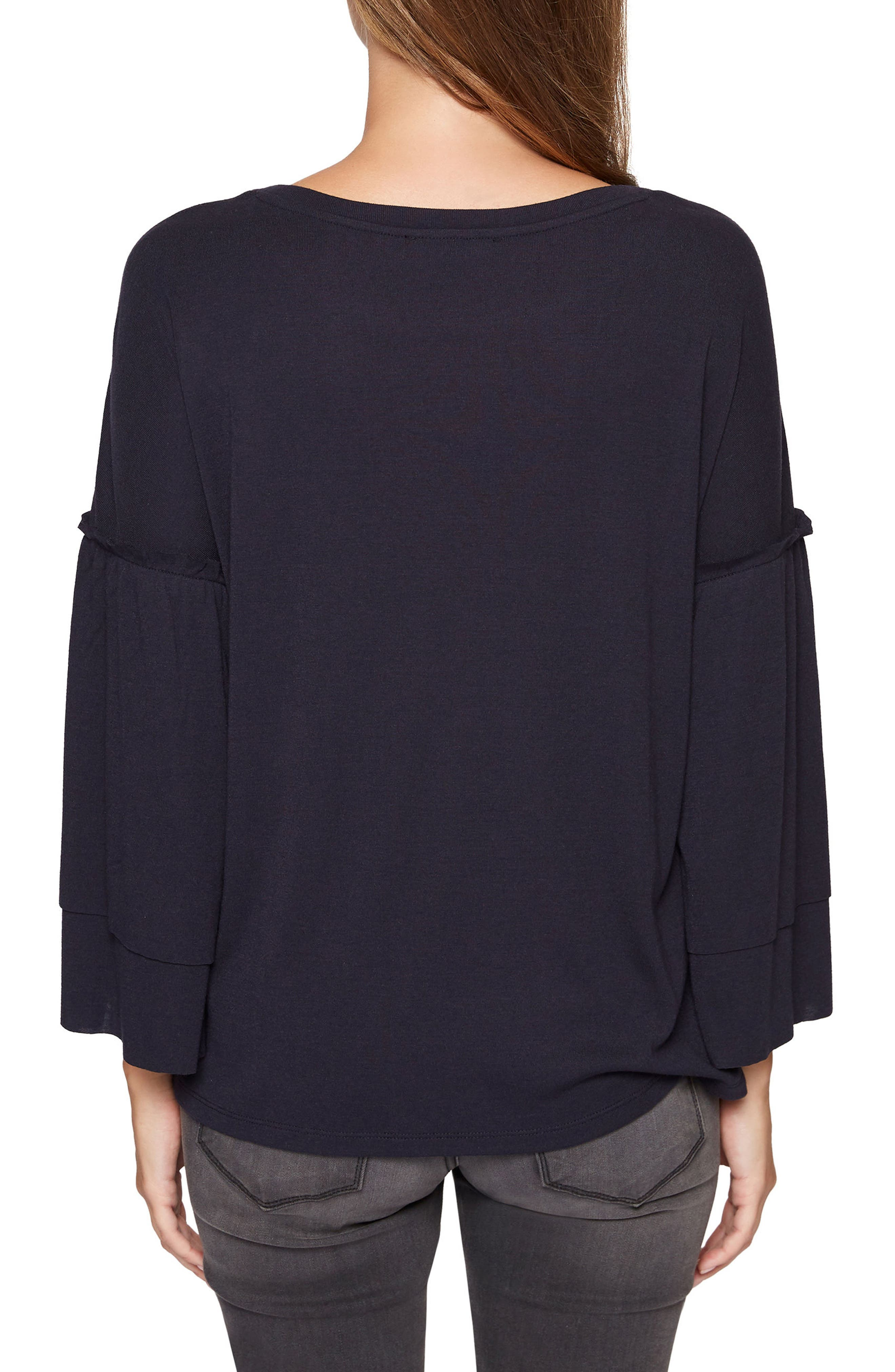 Rosamund Knit Top,                             Alternate thumbnail 2, color,                             Heritage Navy