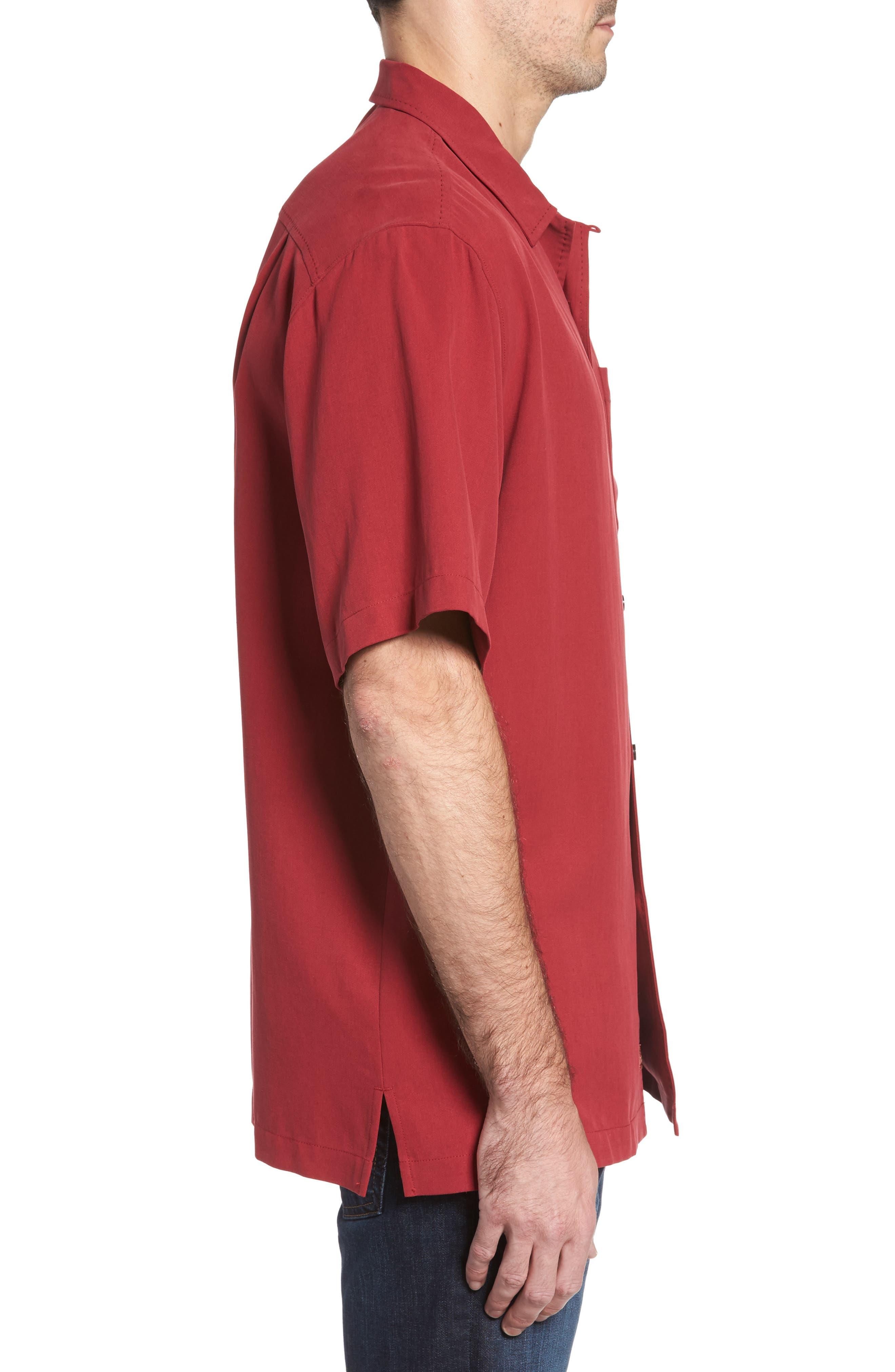 Alternate Image 3  - Tommy Bahama Catalina Twill Short Sleeve Silk Camp Shirt