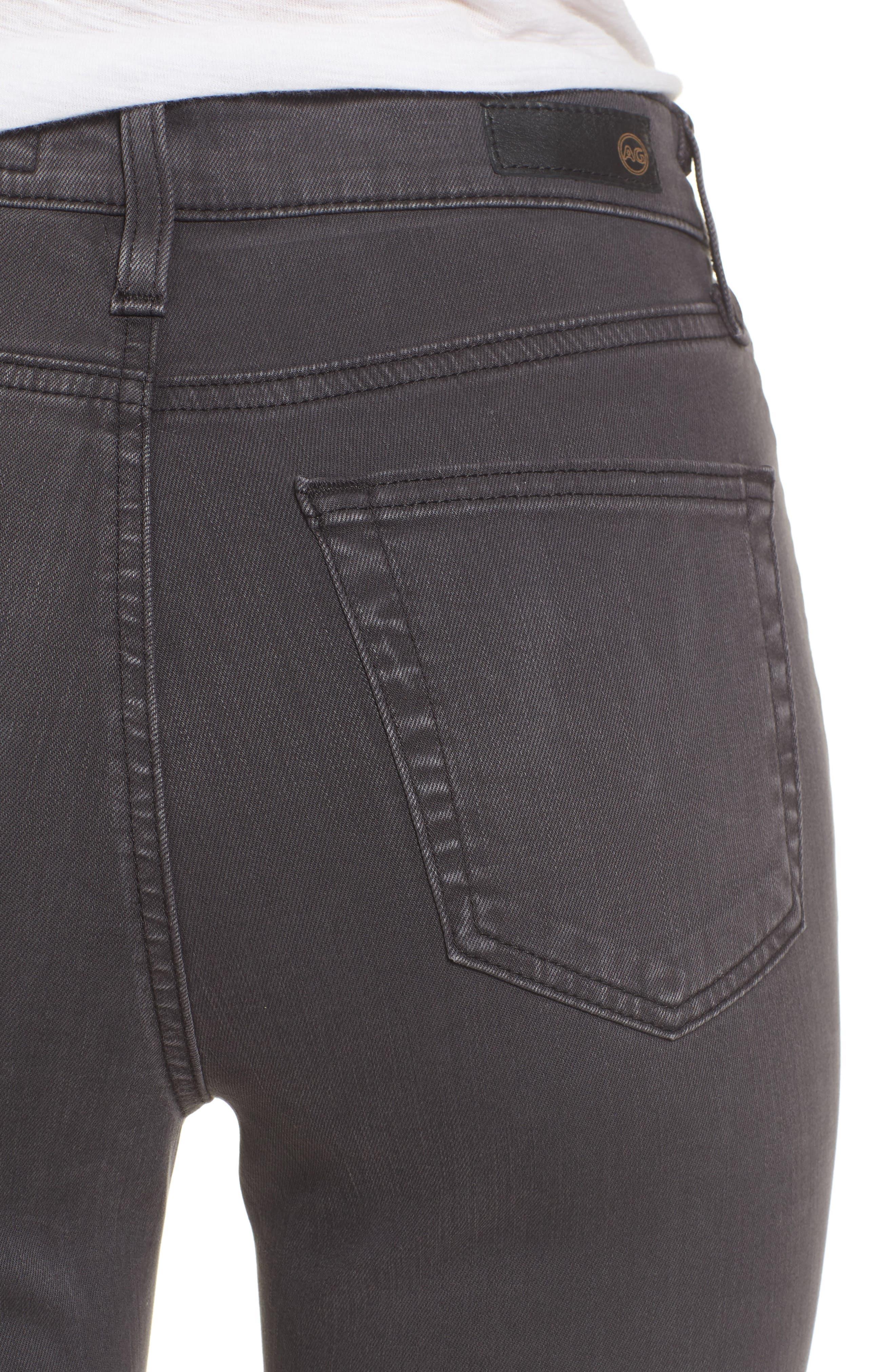 Mila High Rise Skinny Jeans,                             Alternate thumbnail 4, color,                             Interstellar Black