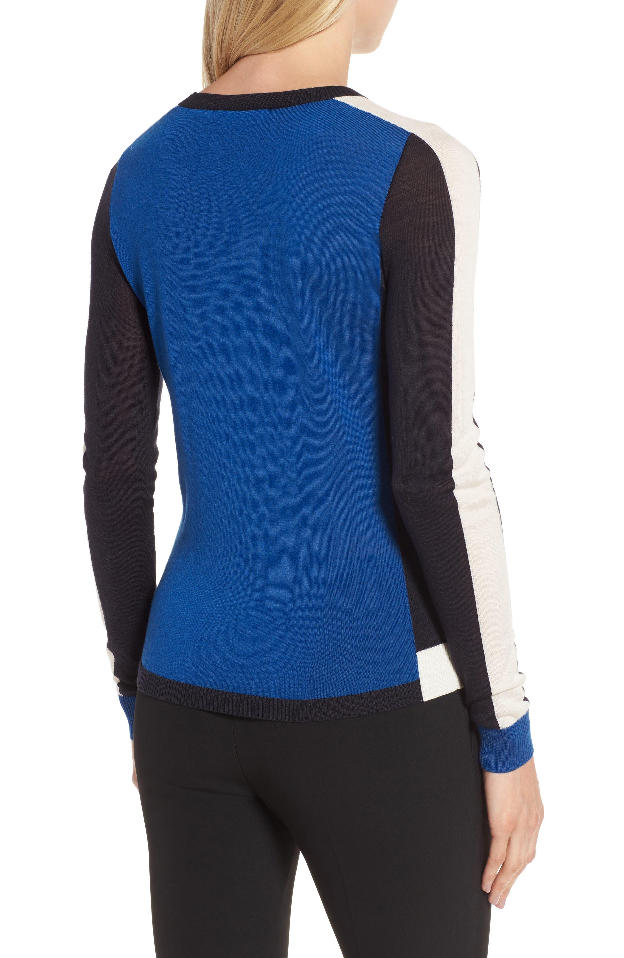 Alternate Image 2  - BOSS Ferda Colorblock Wool Sweater