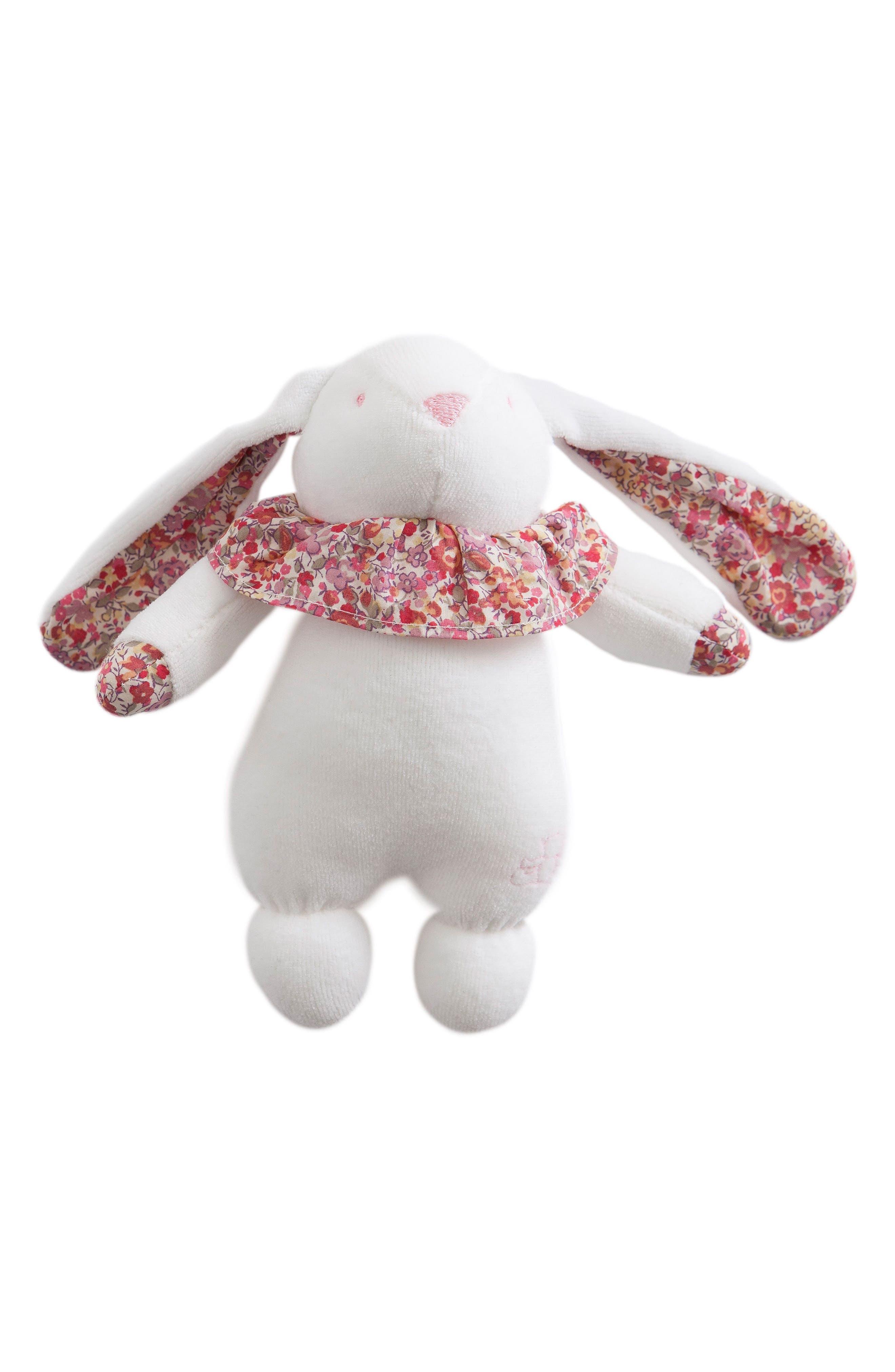 Pamplemousse Peluches x Liberty of London Rabbit Rattle
