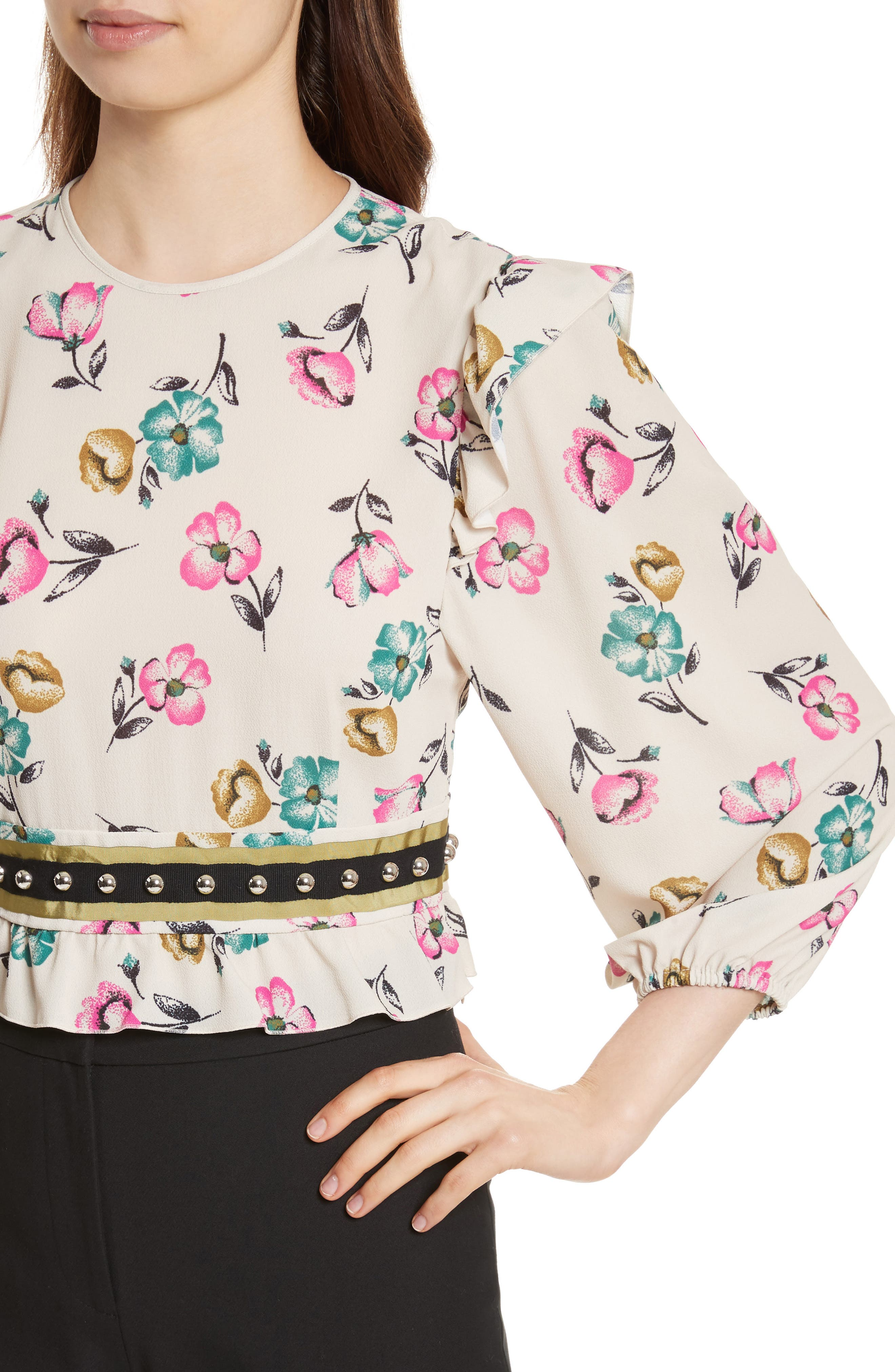 Alternate Image 4  - RED Valentino Anemone Floral Print Blouse
