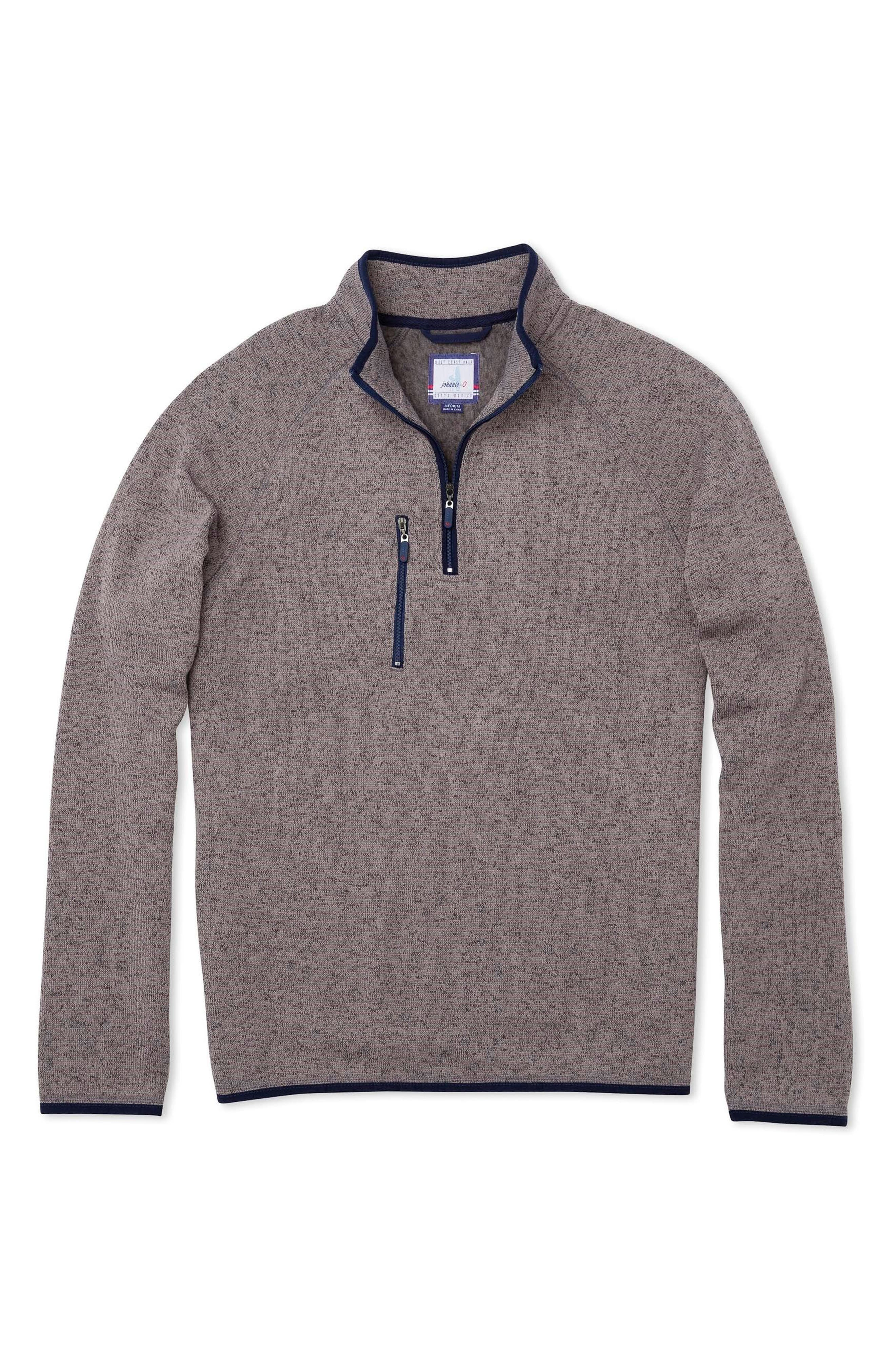 Main Image - johnnie-o Yukon Quarter Zip Sweatshirt (Little Boys & Big Boys)