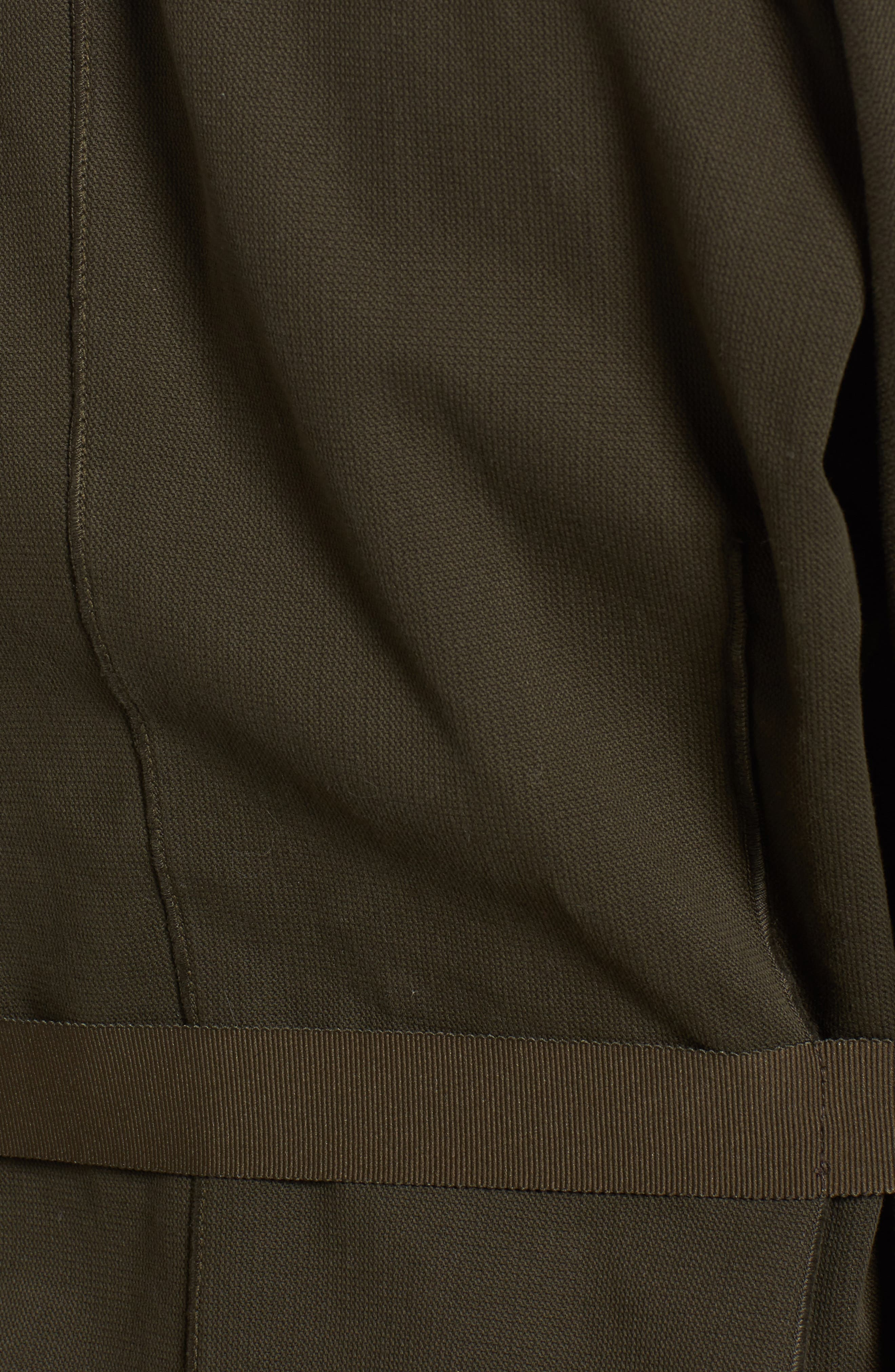 Blanket Kimono Jacket,                             Alternate thumbnail 4, color,                             Smoky Green