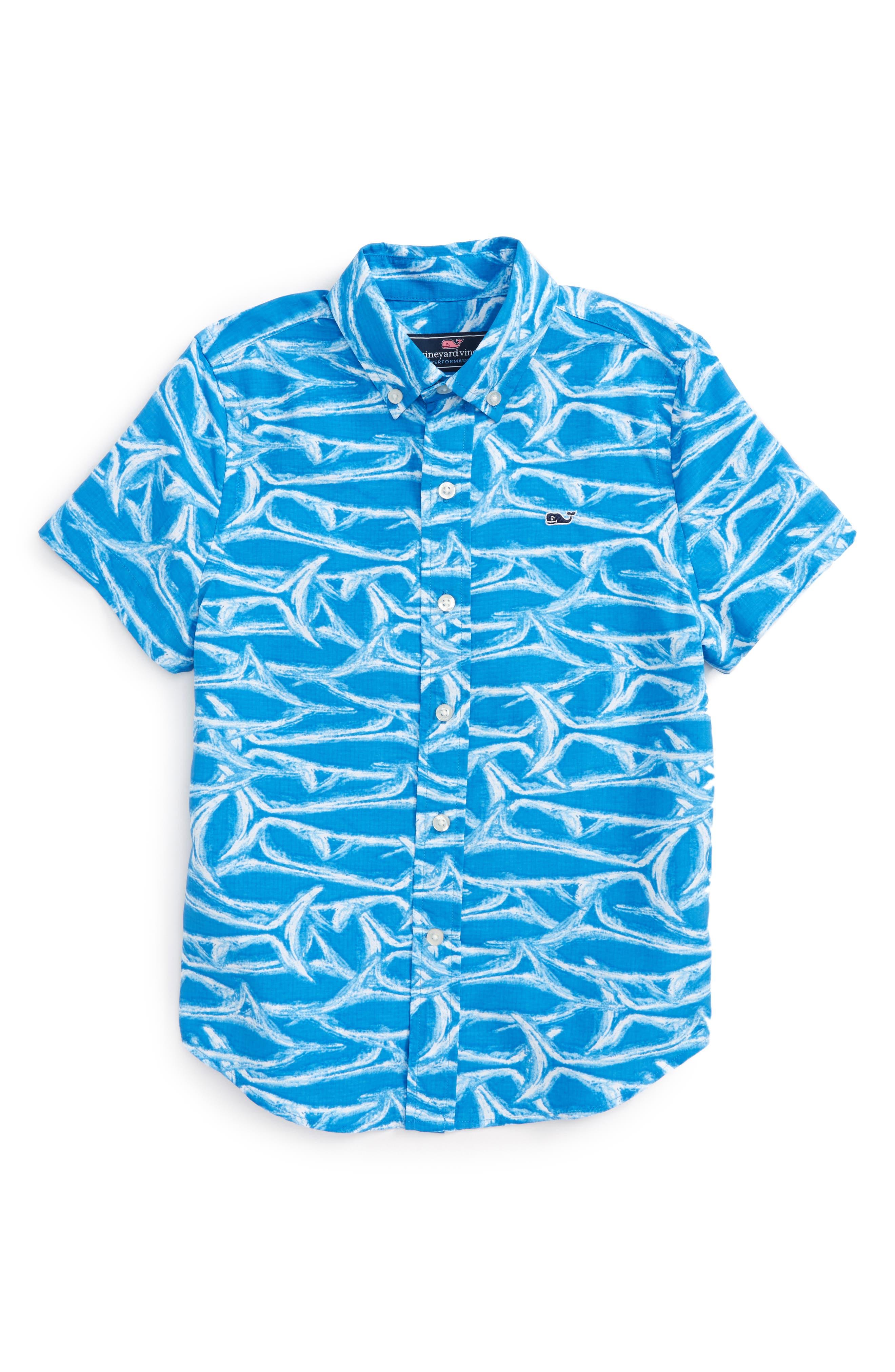 Brushed Marlin Whale Shirt,                             Main thumbnail 1, color,                             Hull Blue