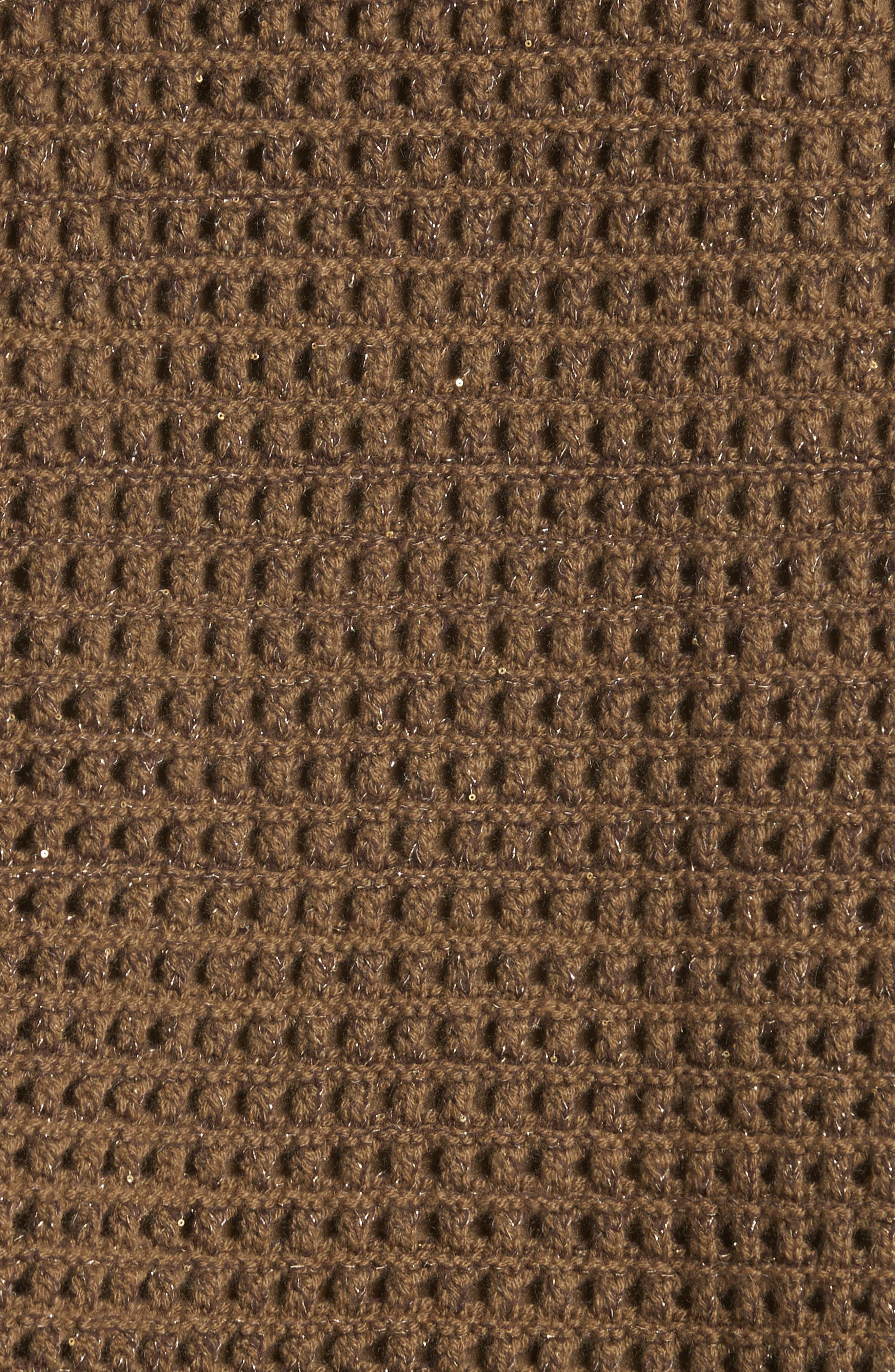Alternate Image 5  - Lafayette 148 New York Cashmere Open Stitch Sequin Sweater