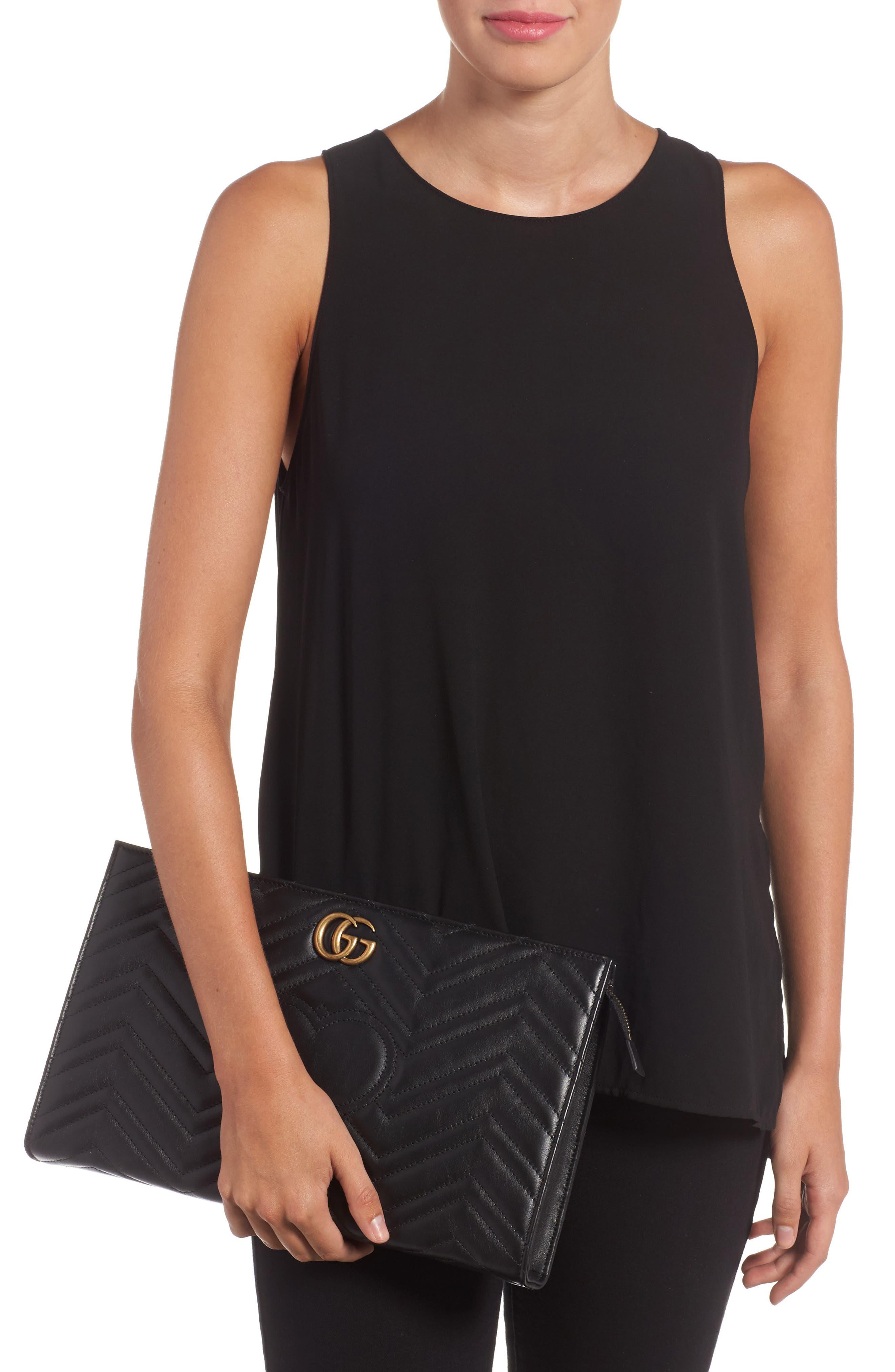 Alternate Image 2  - Gucci GG Marmont Matelassé Leather Clutch