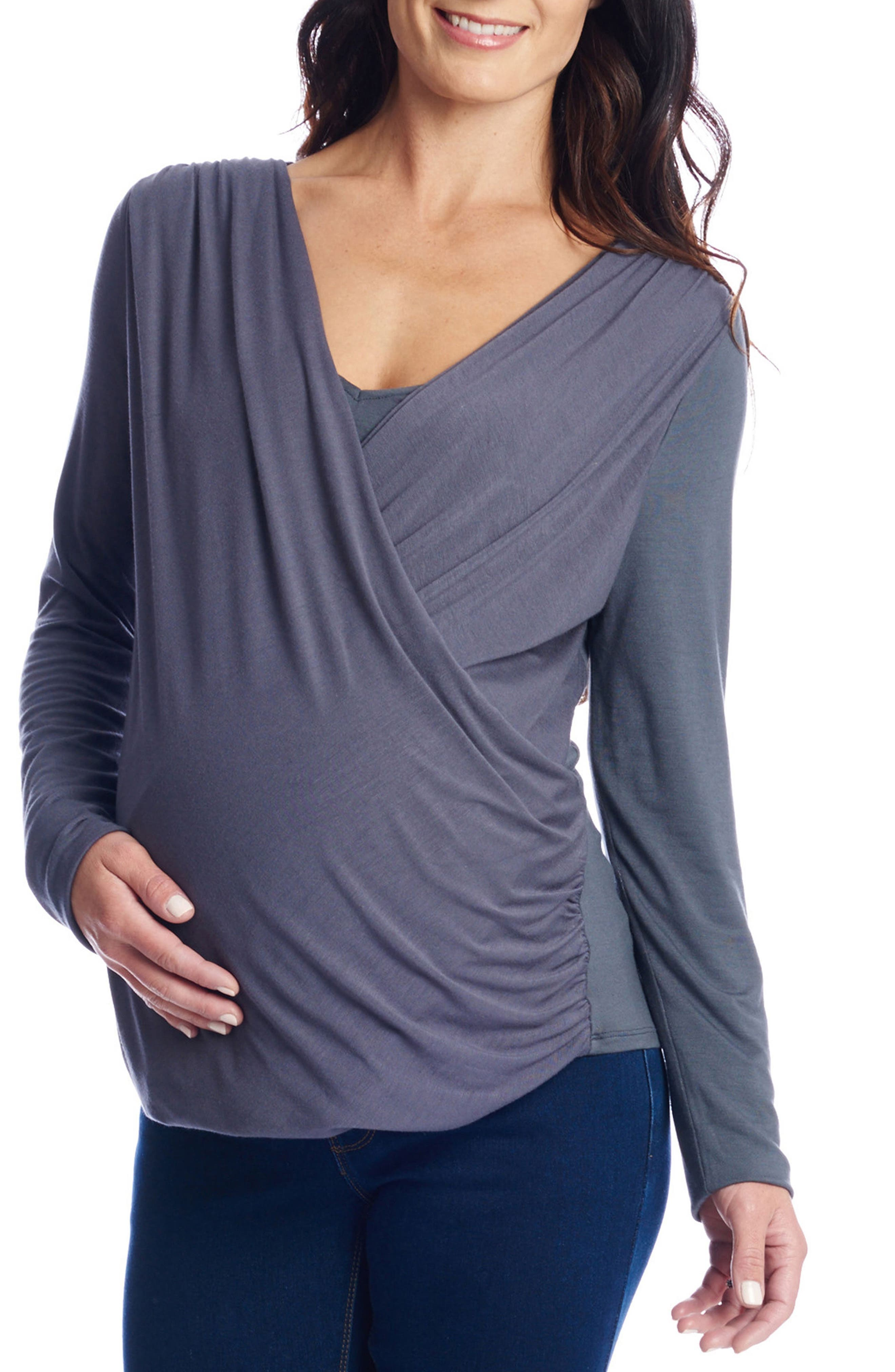 Main Image - Everly Grey Brooklyn Maternity Top