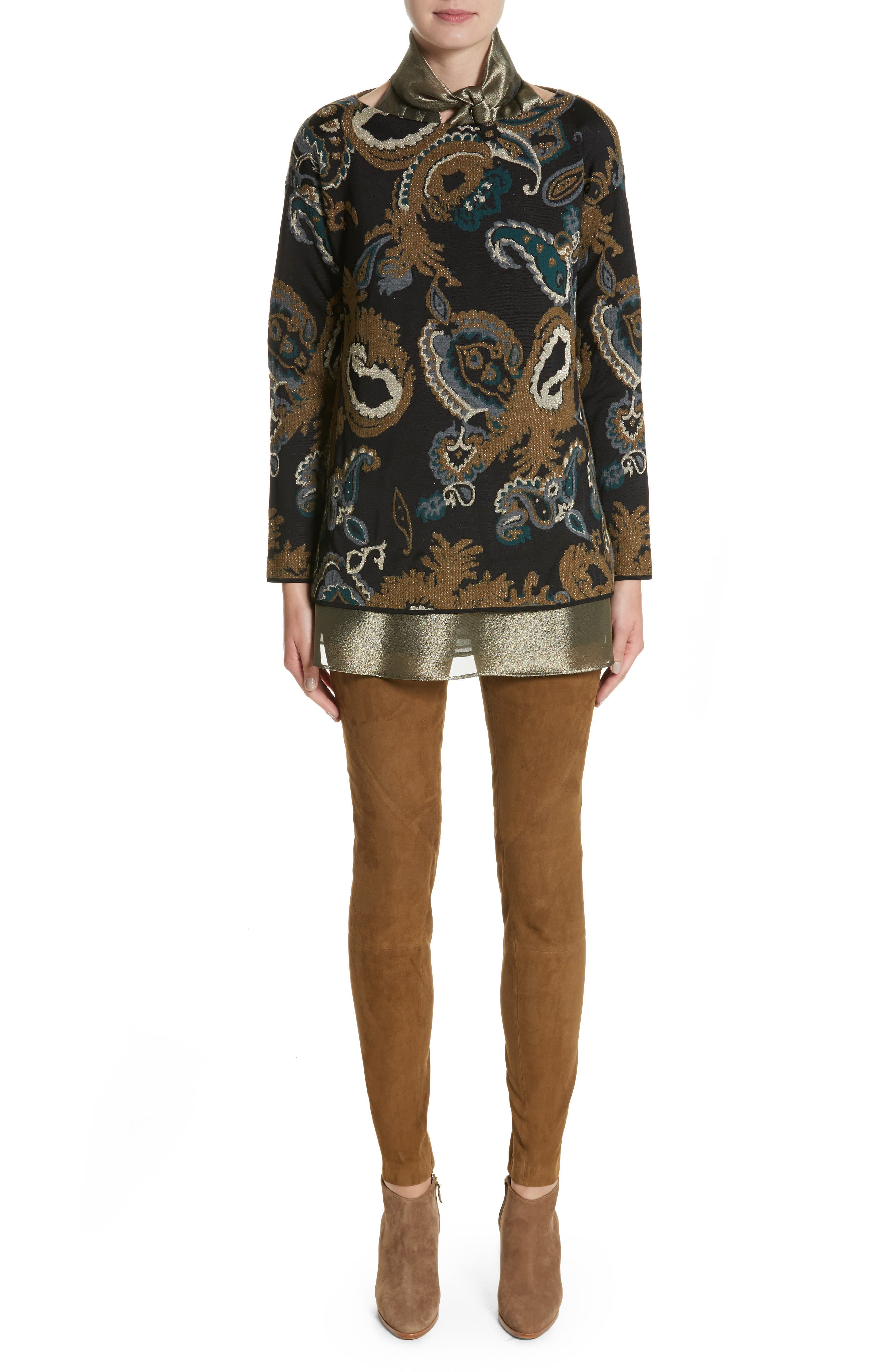 Alternate Image 9  - Lafayette 148 New York Julissa Bijoux Cloth Blouse