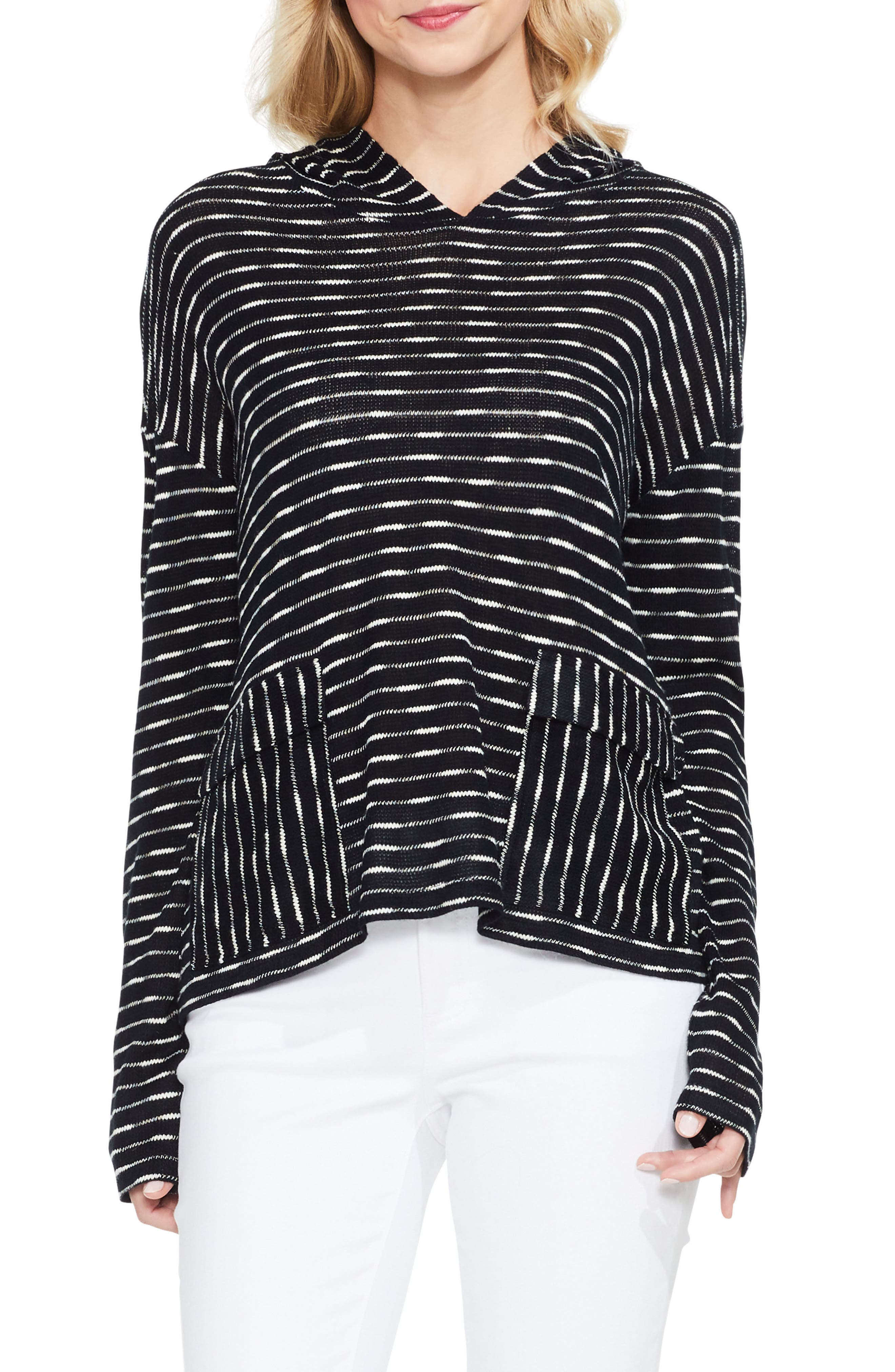 Alternate Image 1 Selected - Two by Vince Camuto Stripe Hoodie