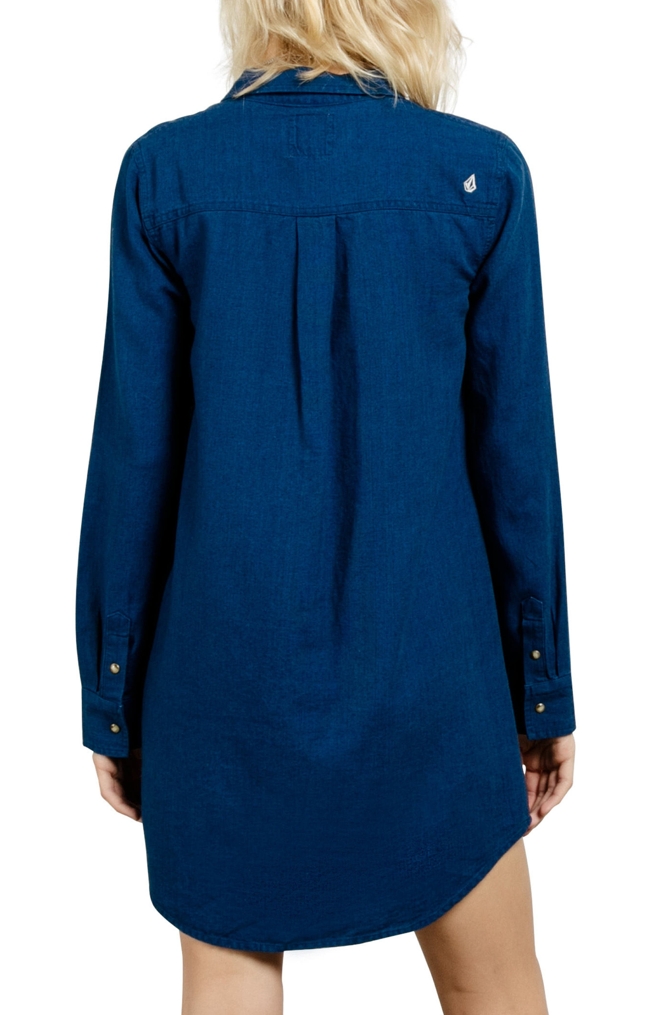 Cham Jam Chambray Shirtdress,                             Alternate thumbnail 2, color,                             Blue