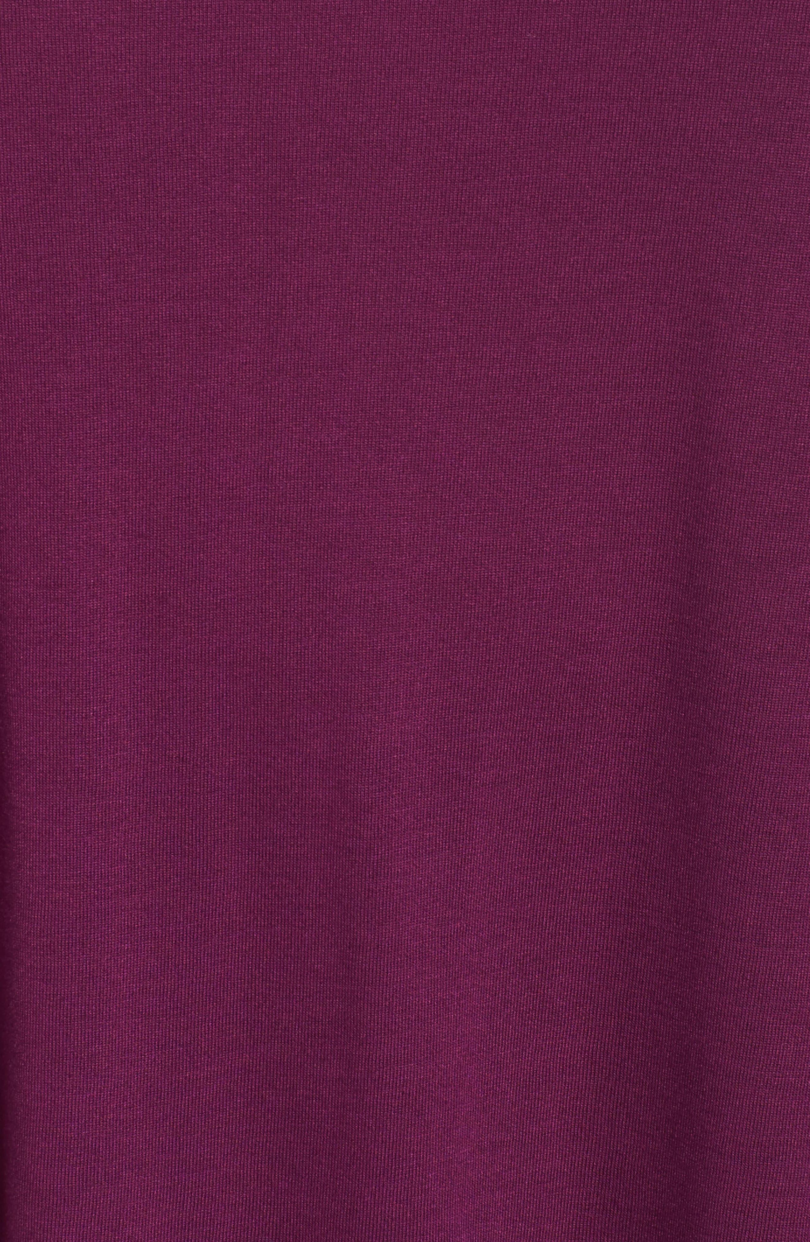 Bell Sleeve Tee,                             Alternate thumbnail 5, color,                             Purple Dark