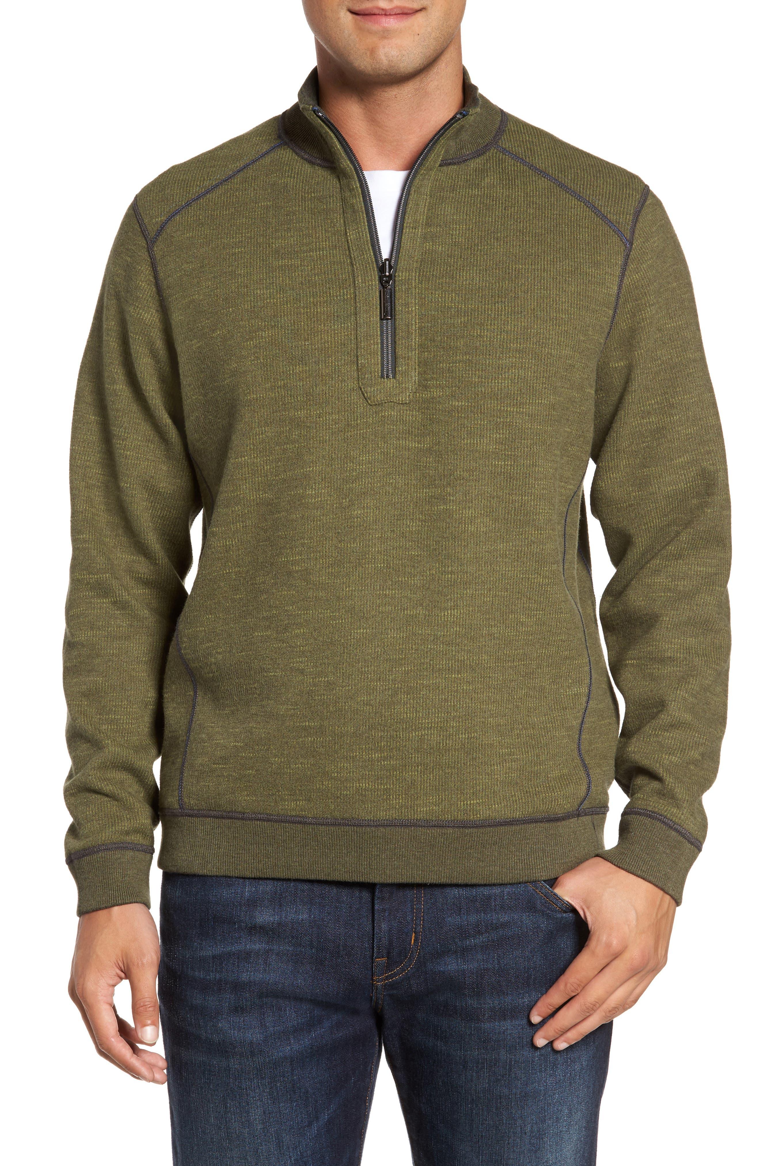 Flipsider Reversible Quarter-Zip Pullover,                             Alternate thumbnail 2, color,                             Steel Wool Heather