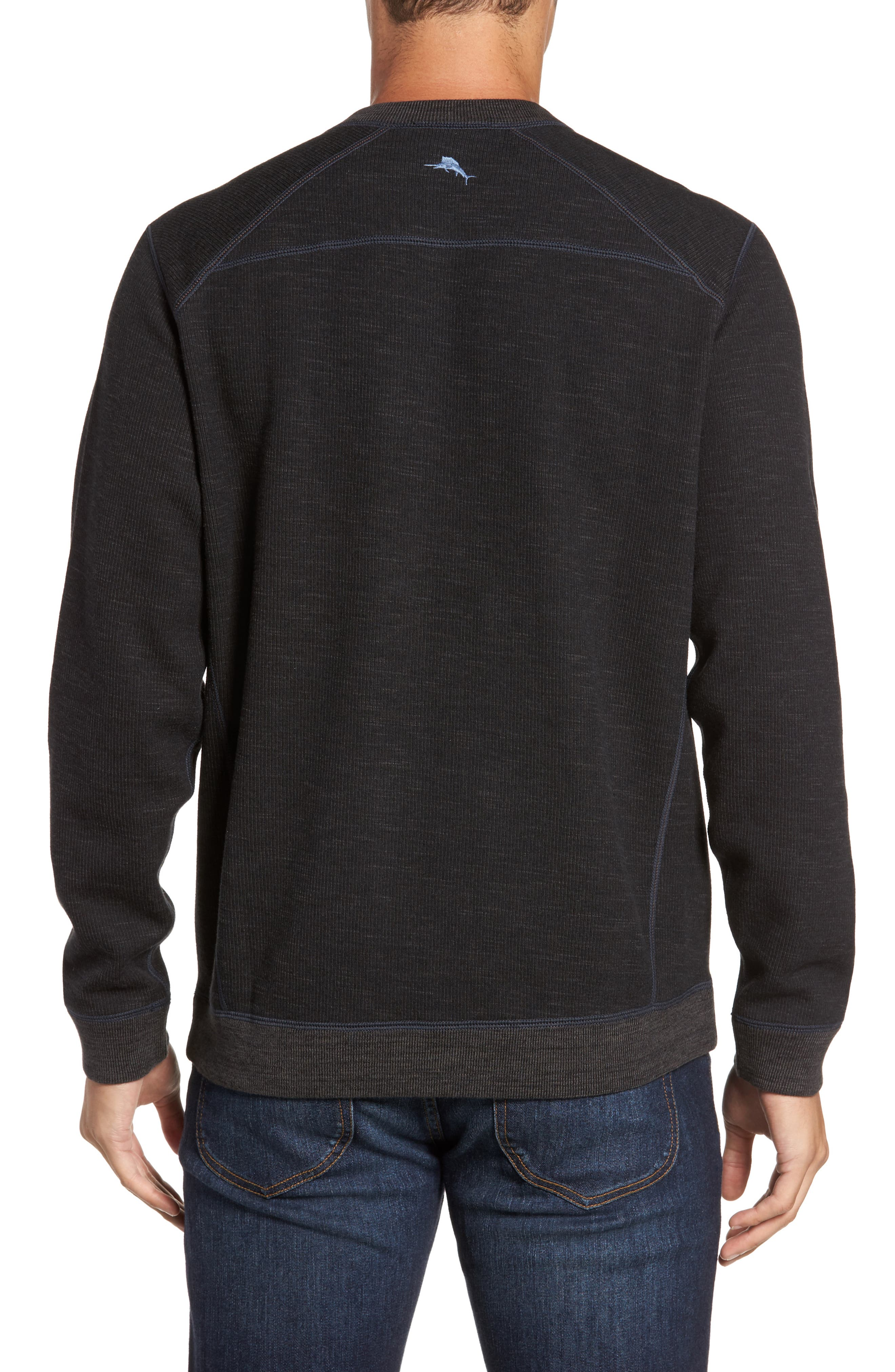 Flipside Pro Reversible Sweatshirt,                             Alternate thumbnail 2, color,                             Black