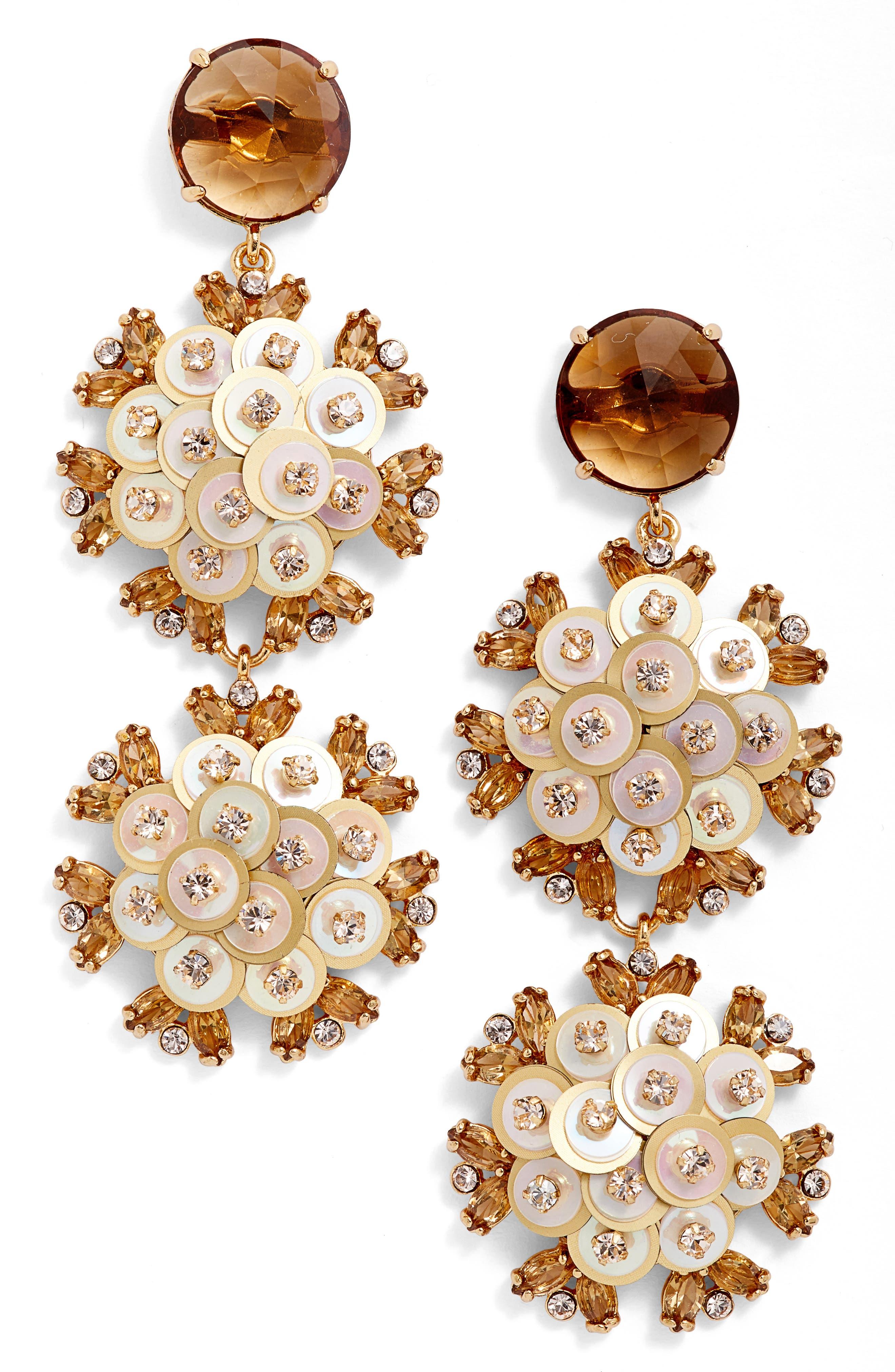 Main Image - kate spade new york be bold triple drop earrings