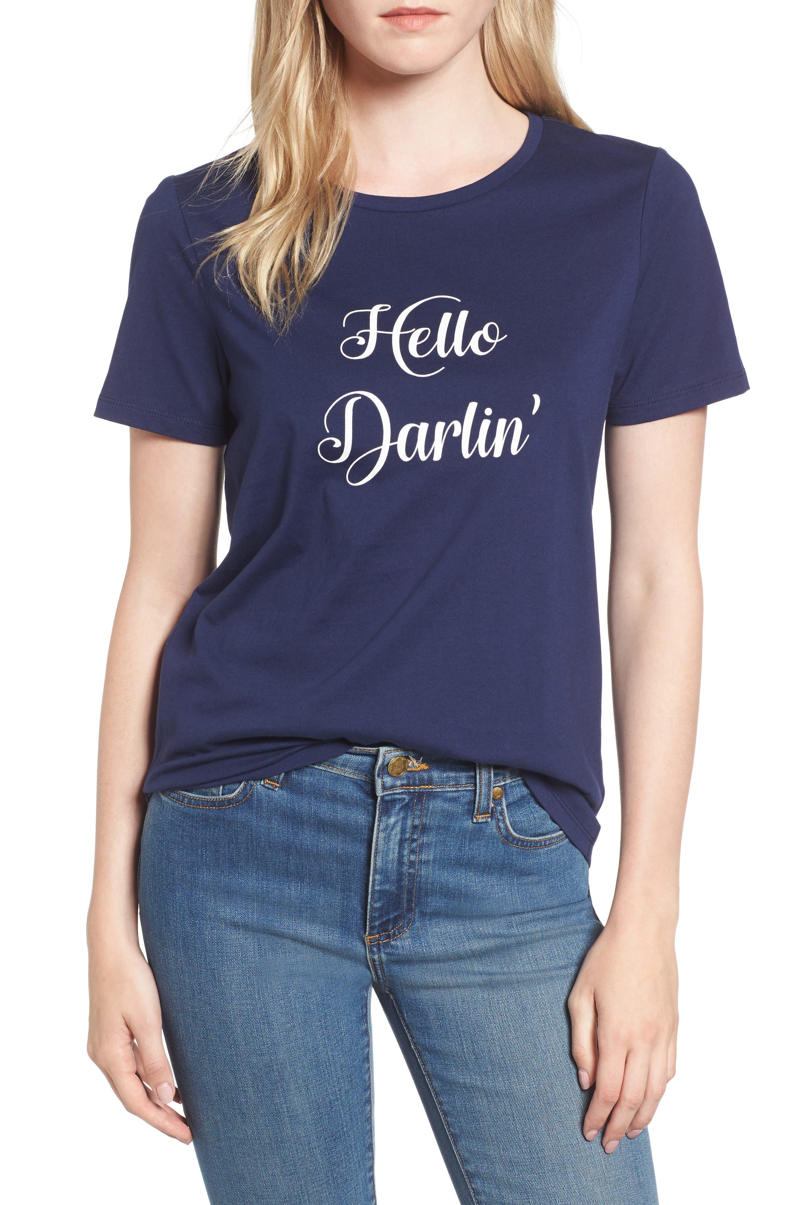 Hello Darlin' Tee,                         Main,                         color, Nassau Navy