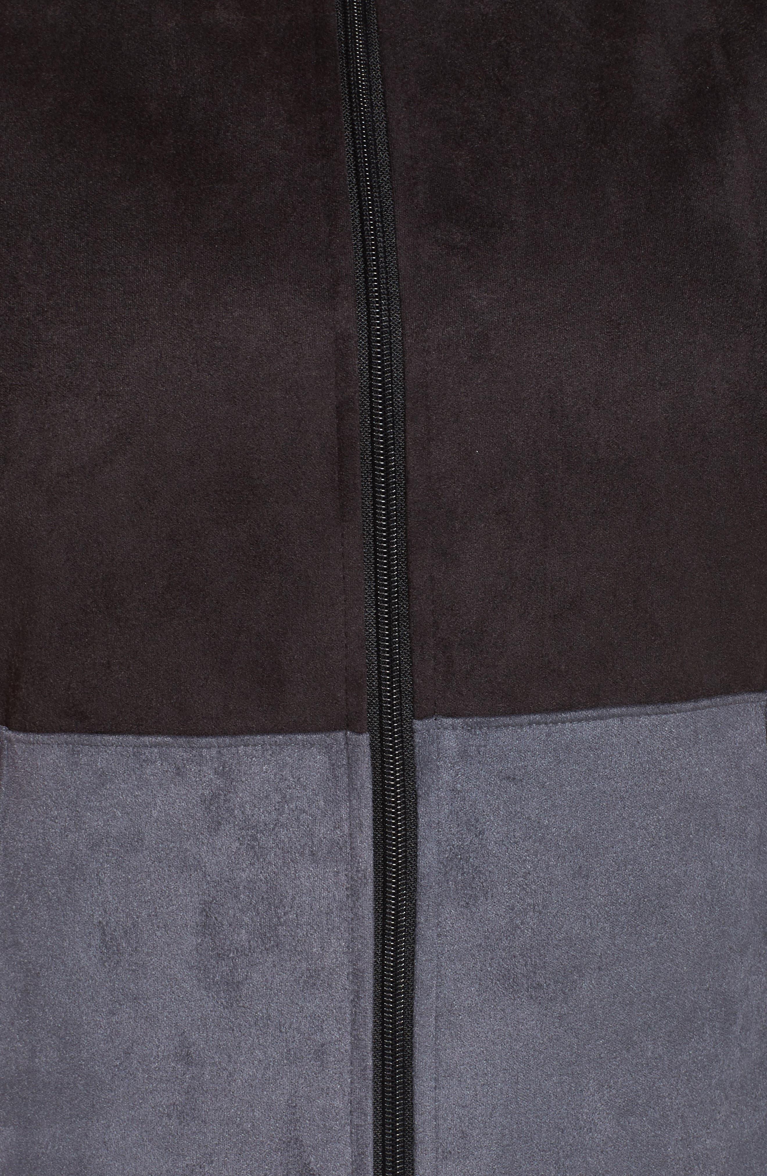 Track Jacket,                             Alternate thumbnail 6, color,                             Black/ Charcoal
