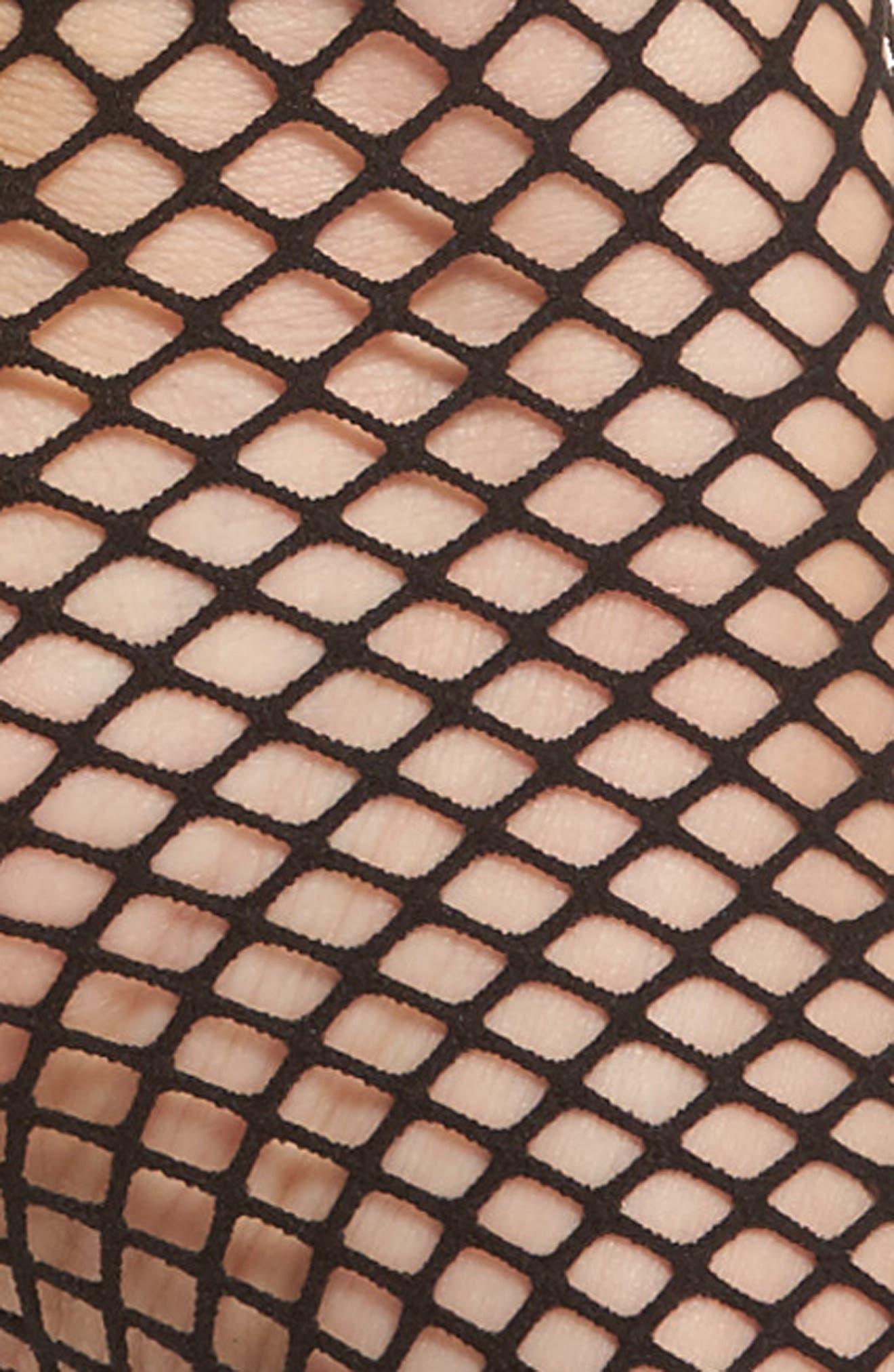 Alternate Image 2  - Capelli New York Fishnet Ankle Socks