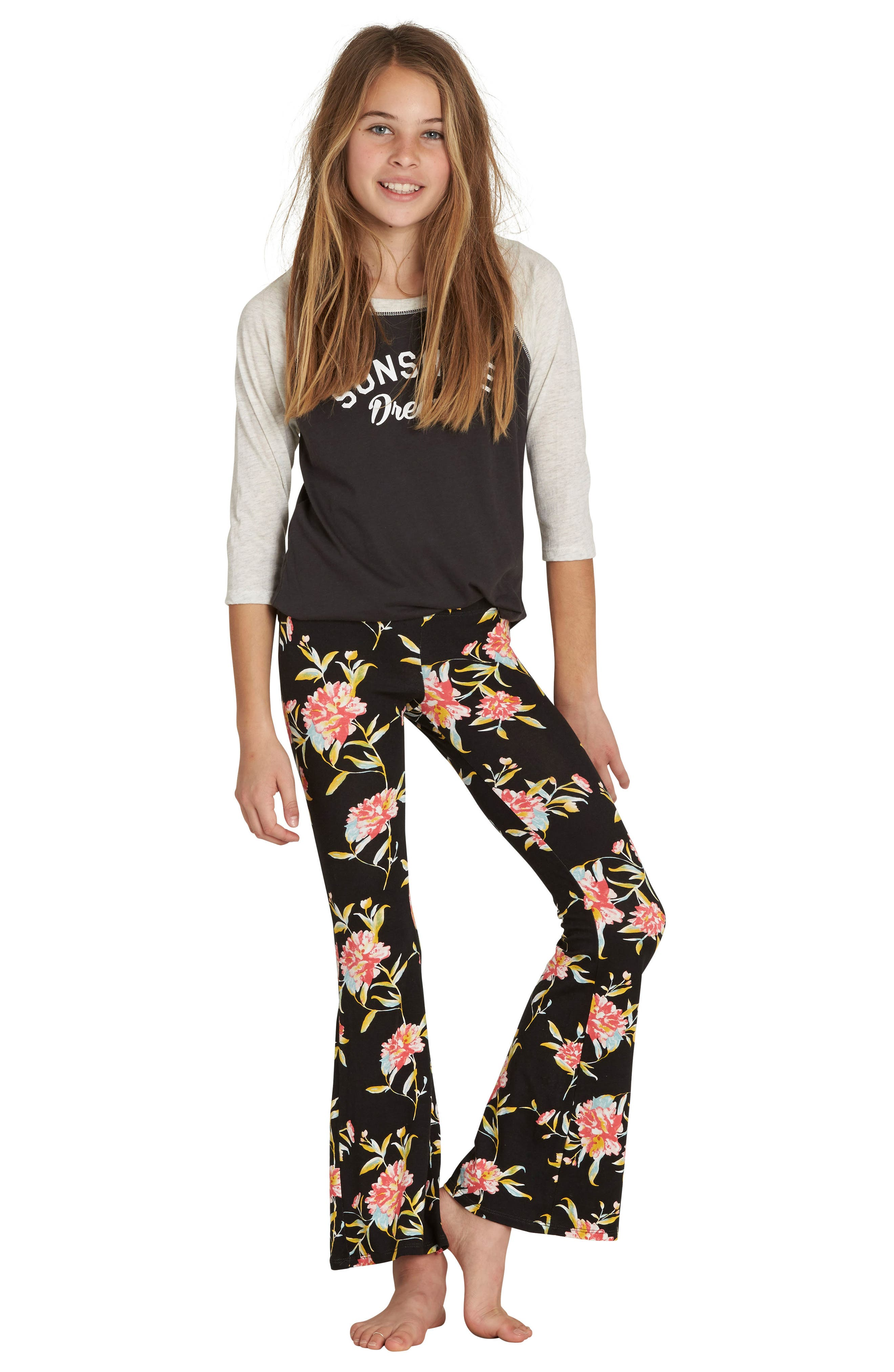 Alternate Image 2  - Billabong Every Day Flower Print Pants (Little Girls & Big Girls)