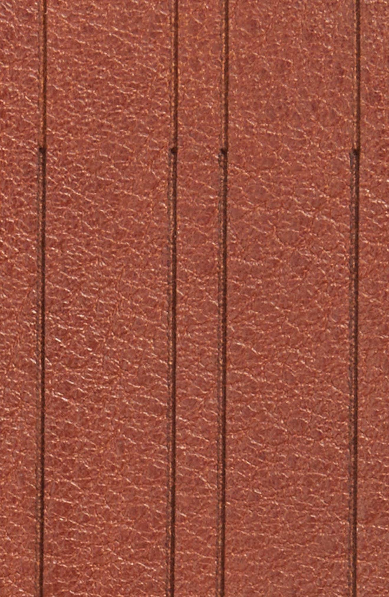 Magno Leather Belt,                             Alternate thumbnail 2, color,                             Tan