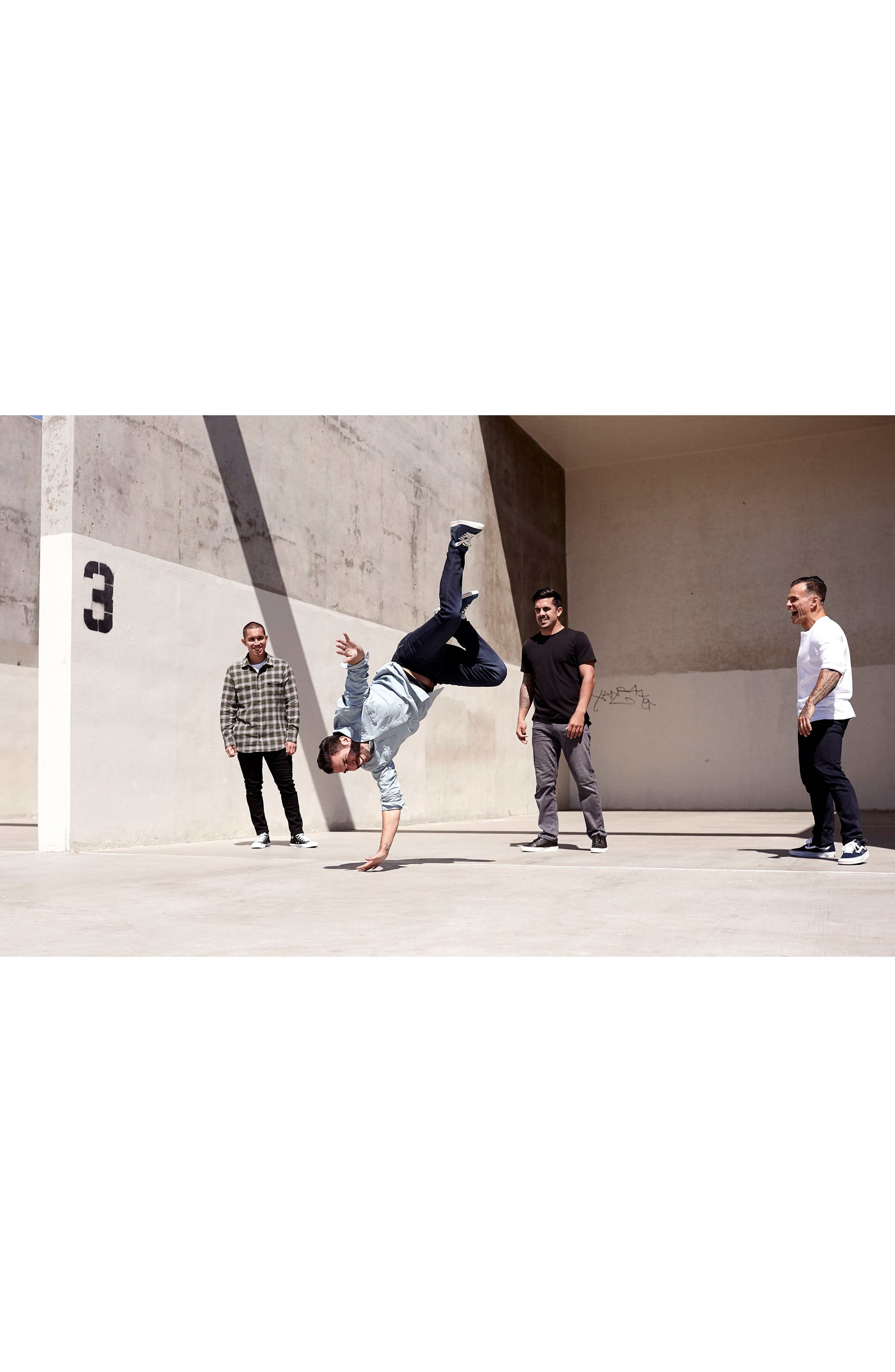 Alternate Image 7  - PAIGE Transcend - Federal Slim Straight Leg Jeans (Wayne)