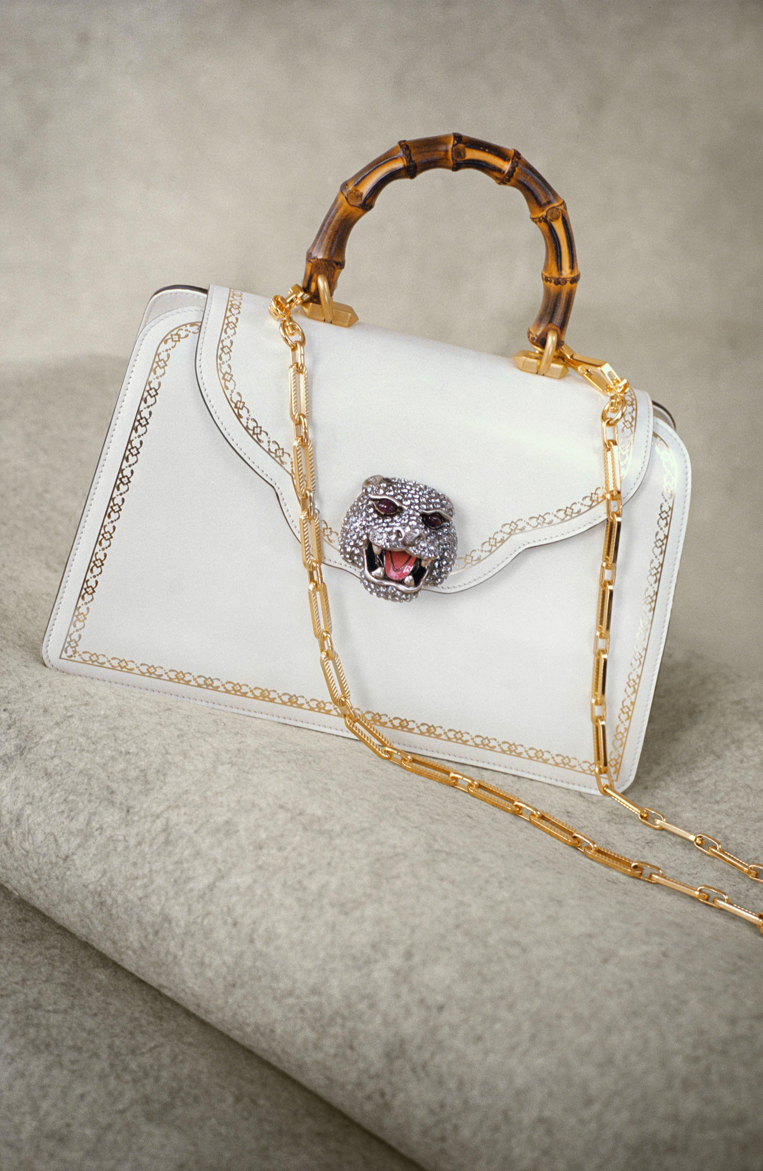 Alternate Image 5  - Gucci Gatto Medium Top Handle Bag