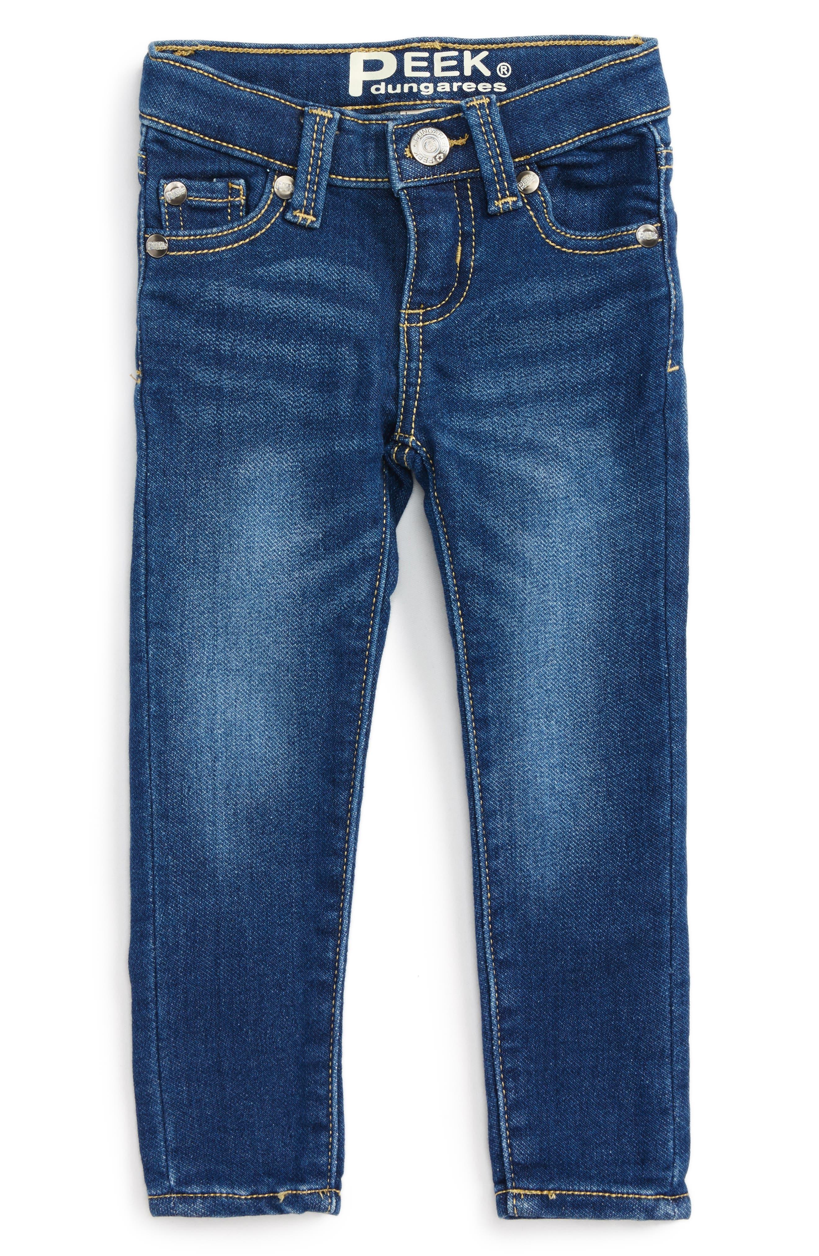 Main Image - Peek Taylor Skinny Jeans (Baby Girls)