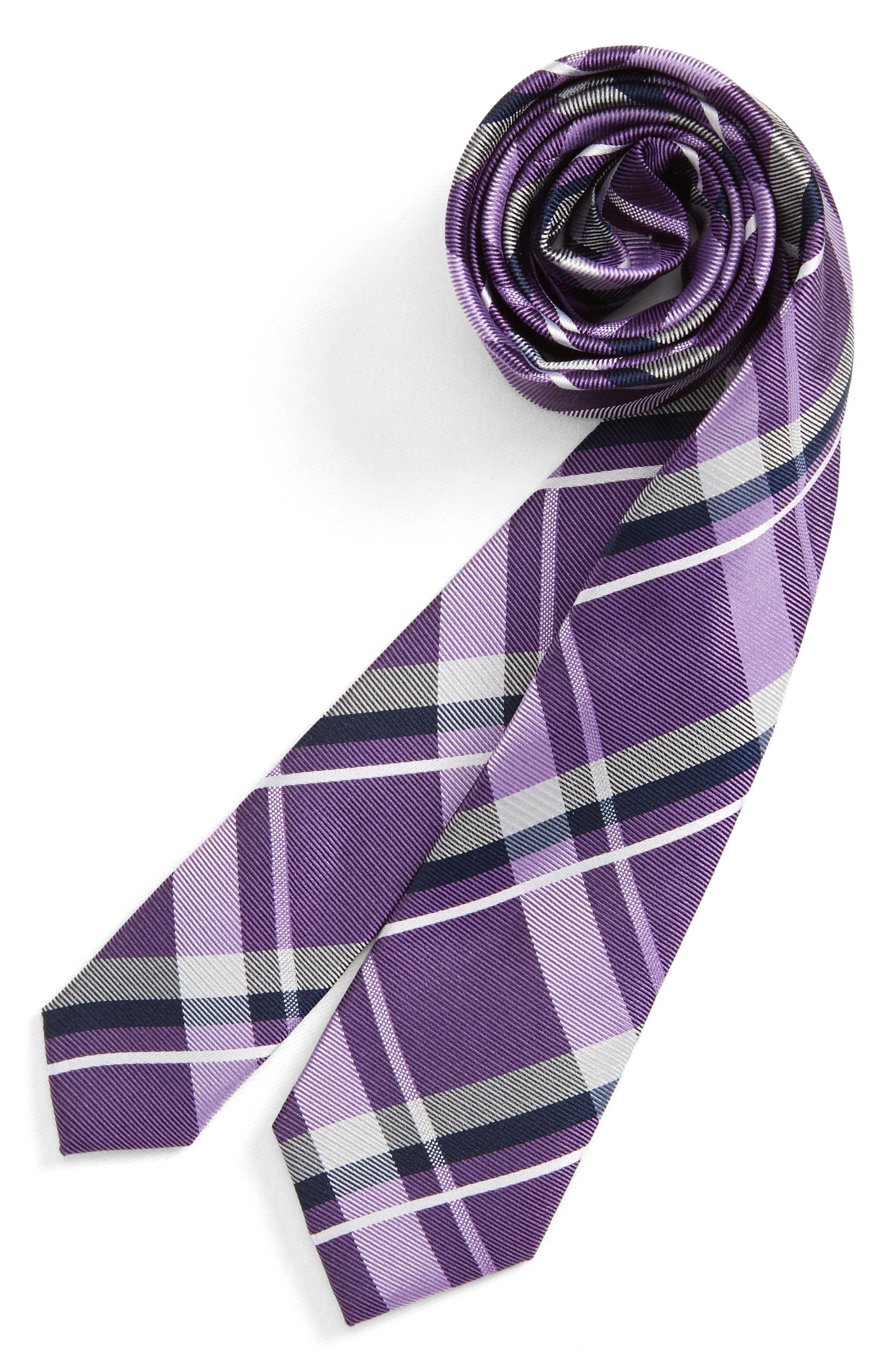 Nordstrom Check Silk Tie (Boys)