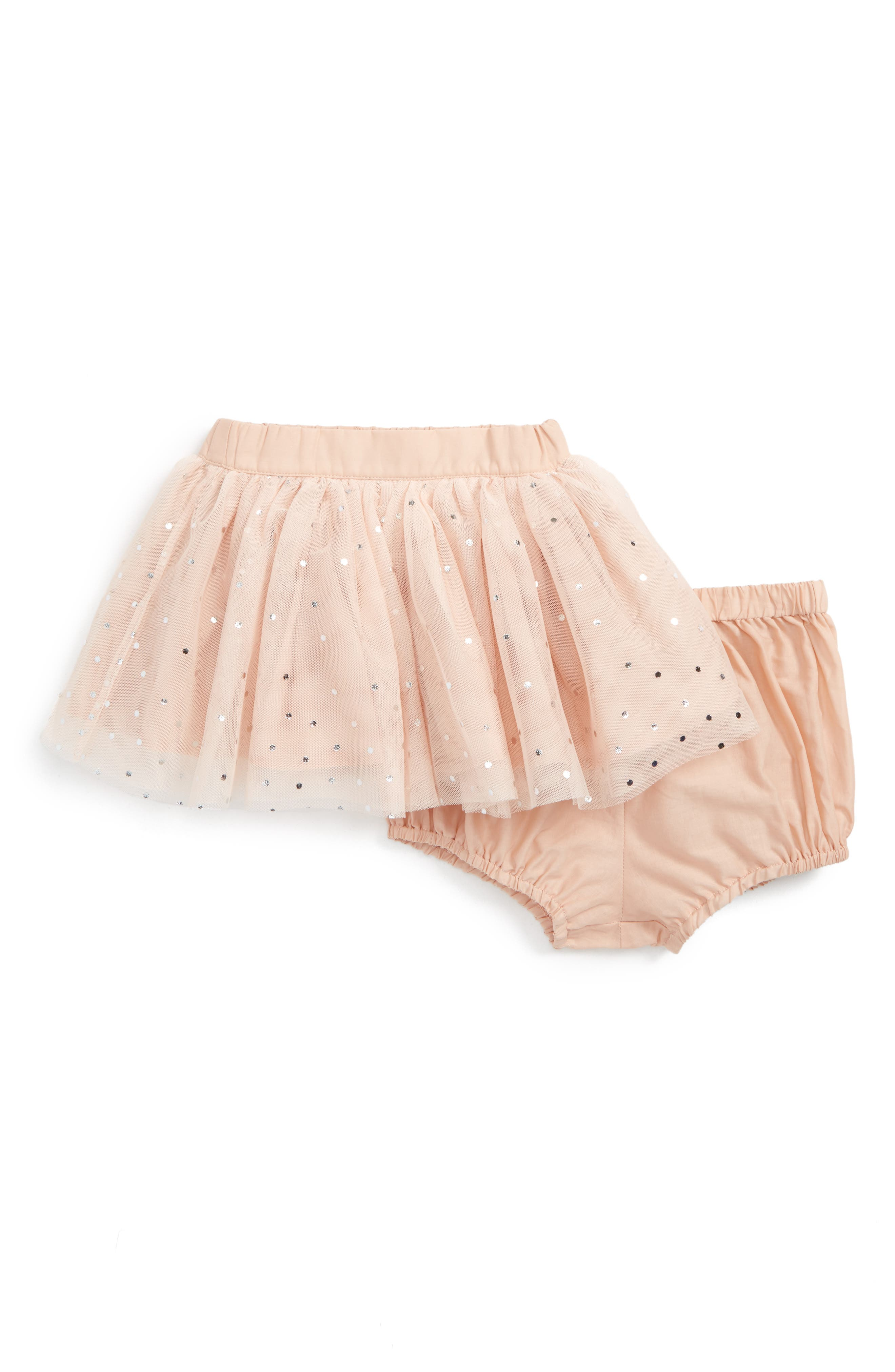 Kids Honey Sparkle Tulle Skirt,                             Main thumbnail 1, color,                             Pearl Pink