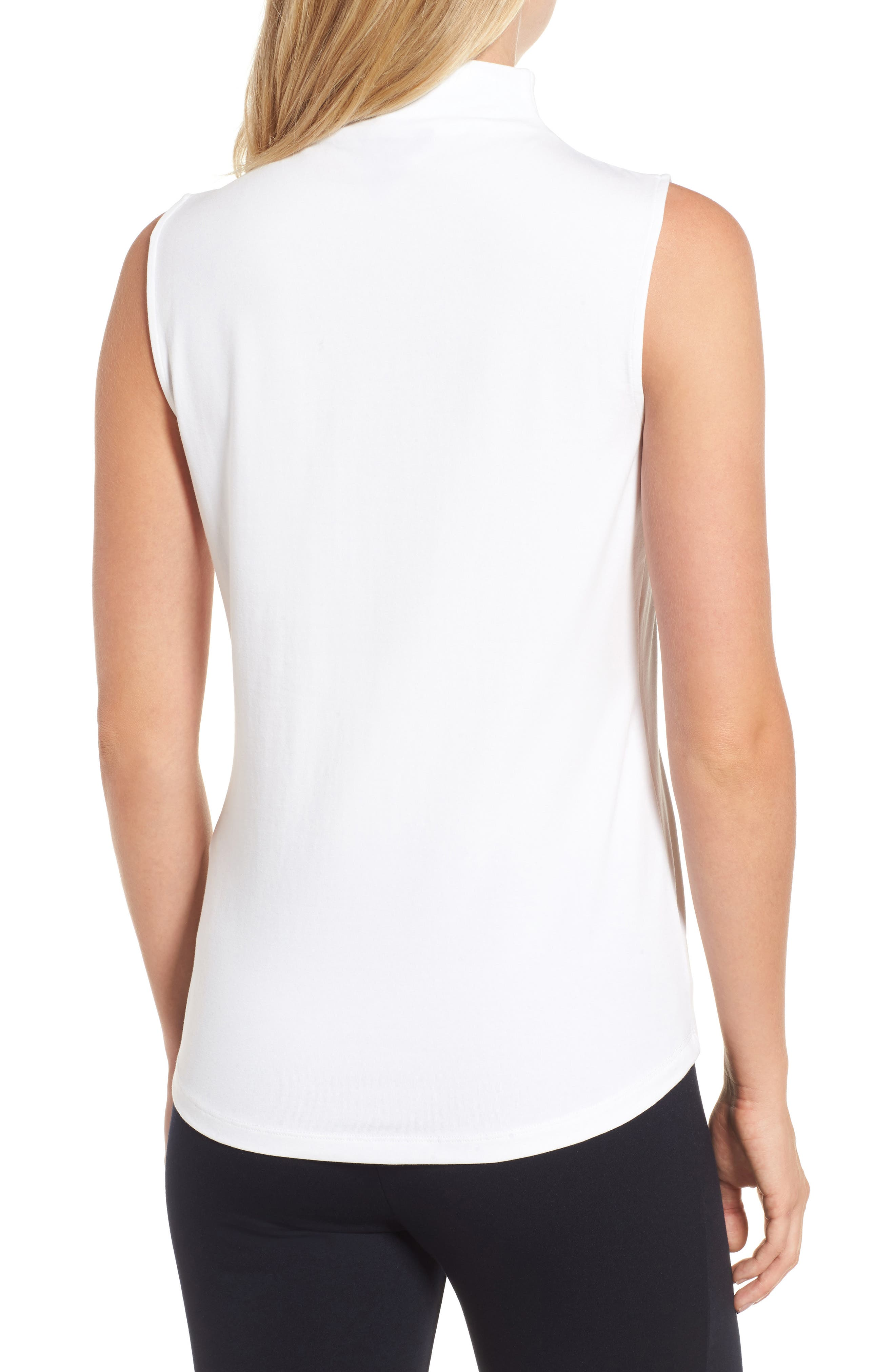 The Perfect Mock Neck Top,                             Alternate thumbnail 2, color,                             Paper White