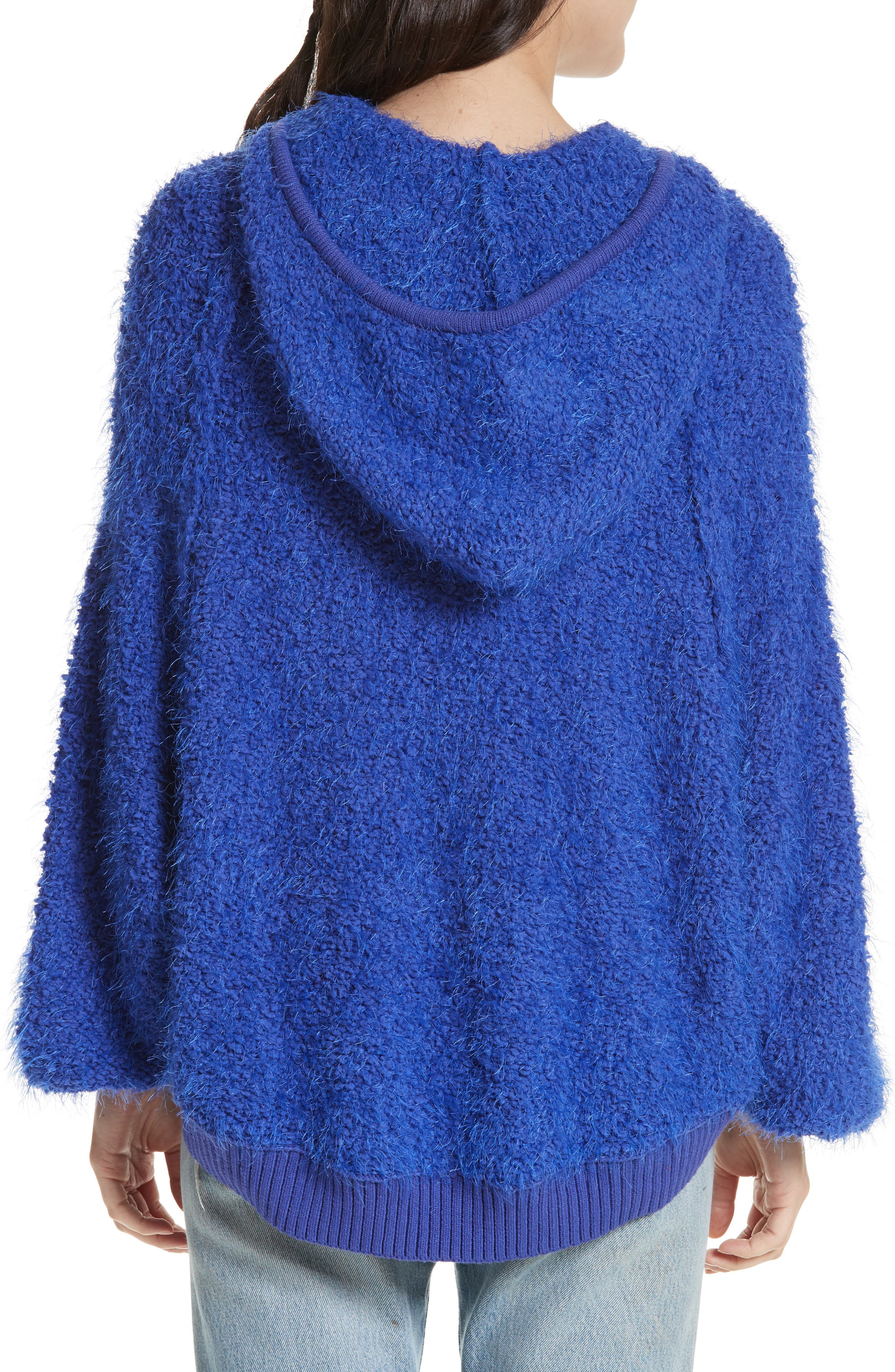 Furry Time Hooded Jacket,                             Alternate thumbnail 2, color,                             Blue