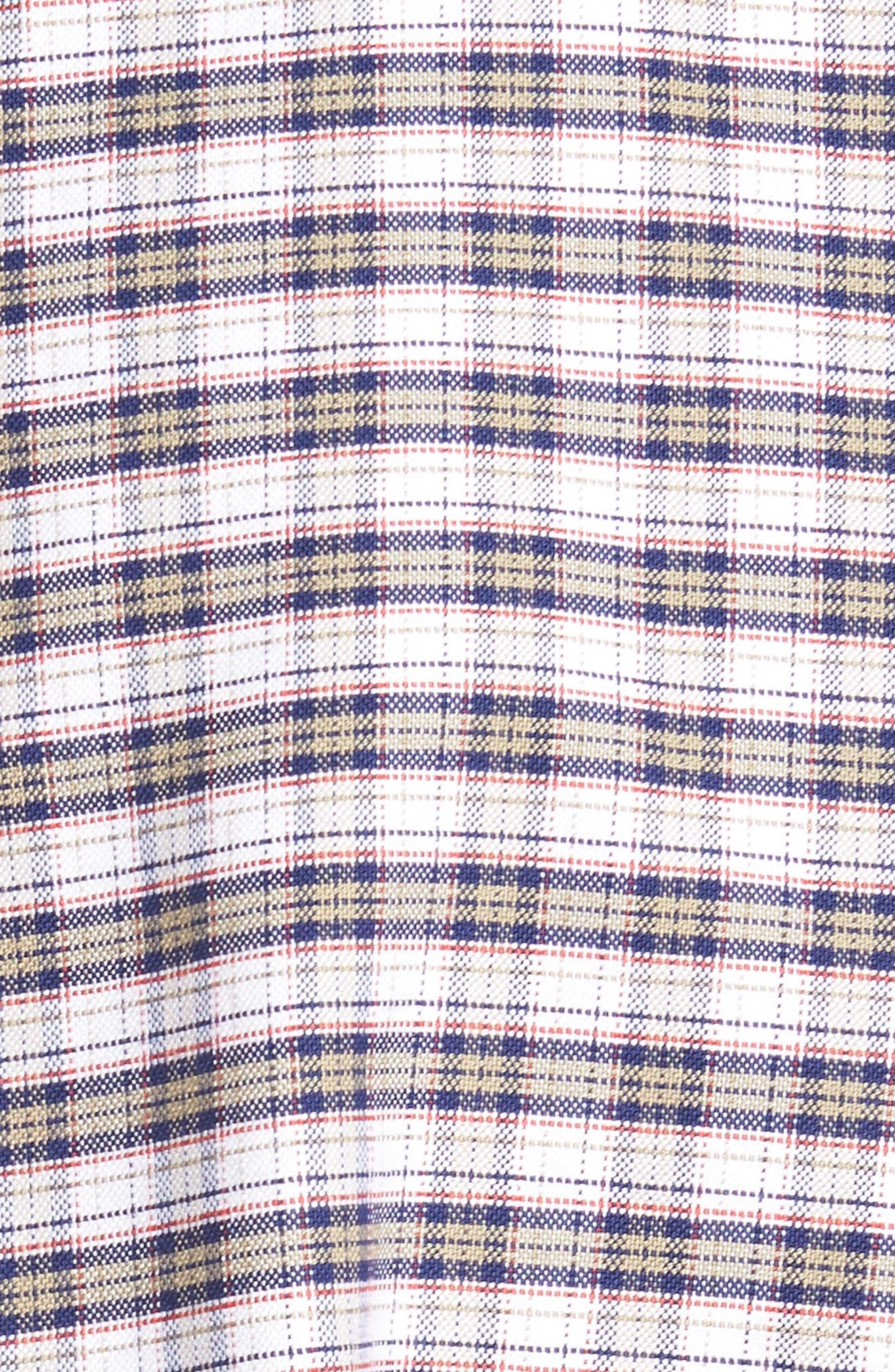 Crown Vintage Plaid Regular Fit Sport Shirt,                             Alternate thumbnail 5, color,                             Patriot Navy