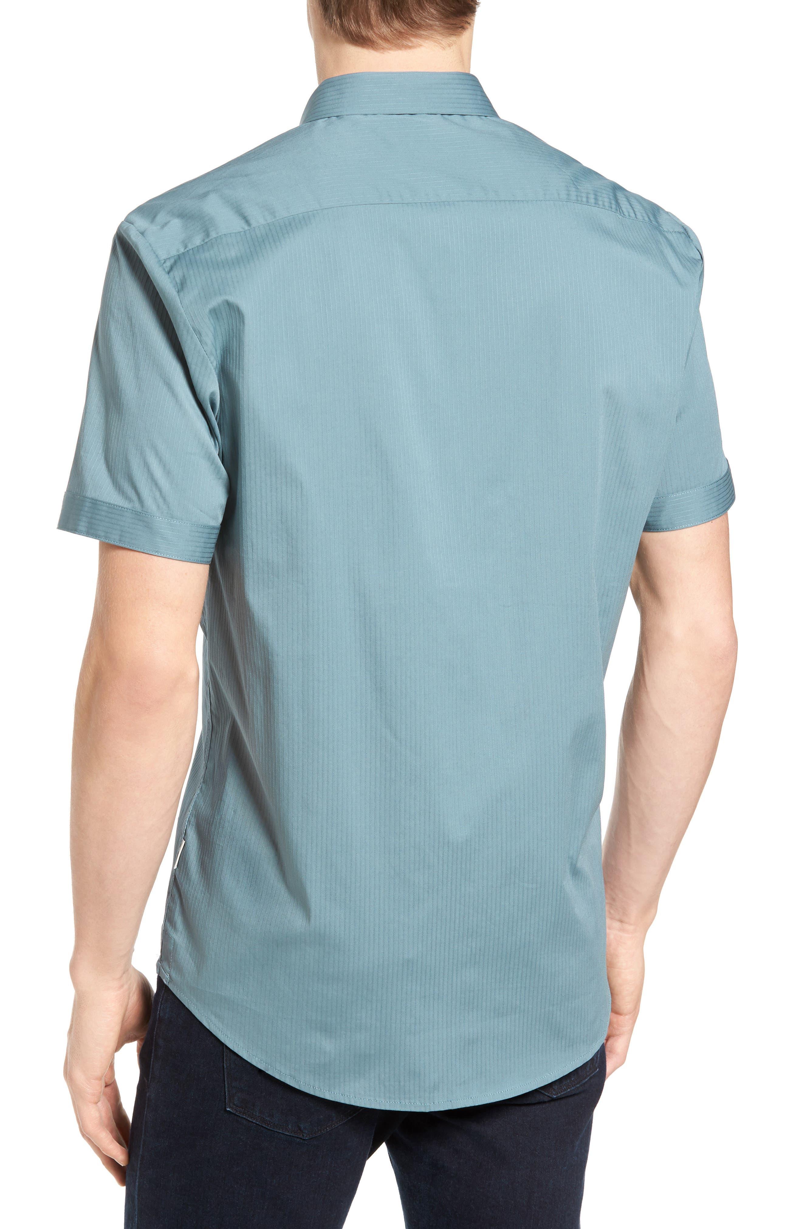 City Savior Woven Shirt,                             Alternate thumbnail 2, color,                             Stormy Sea